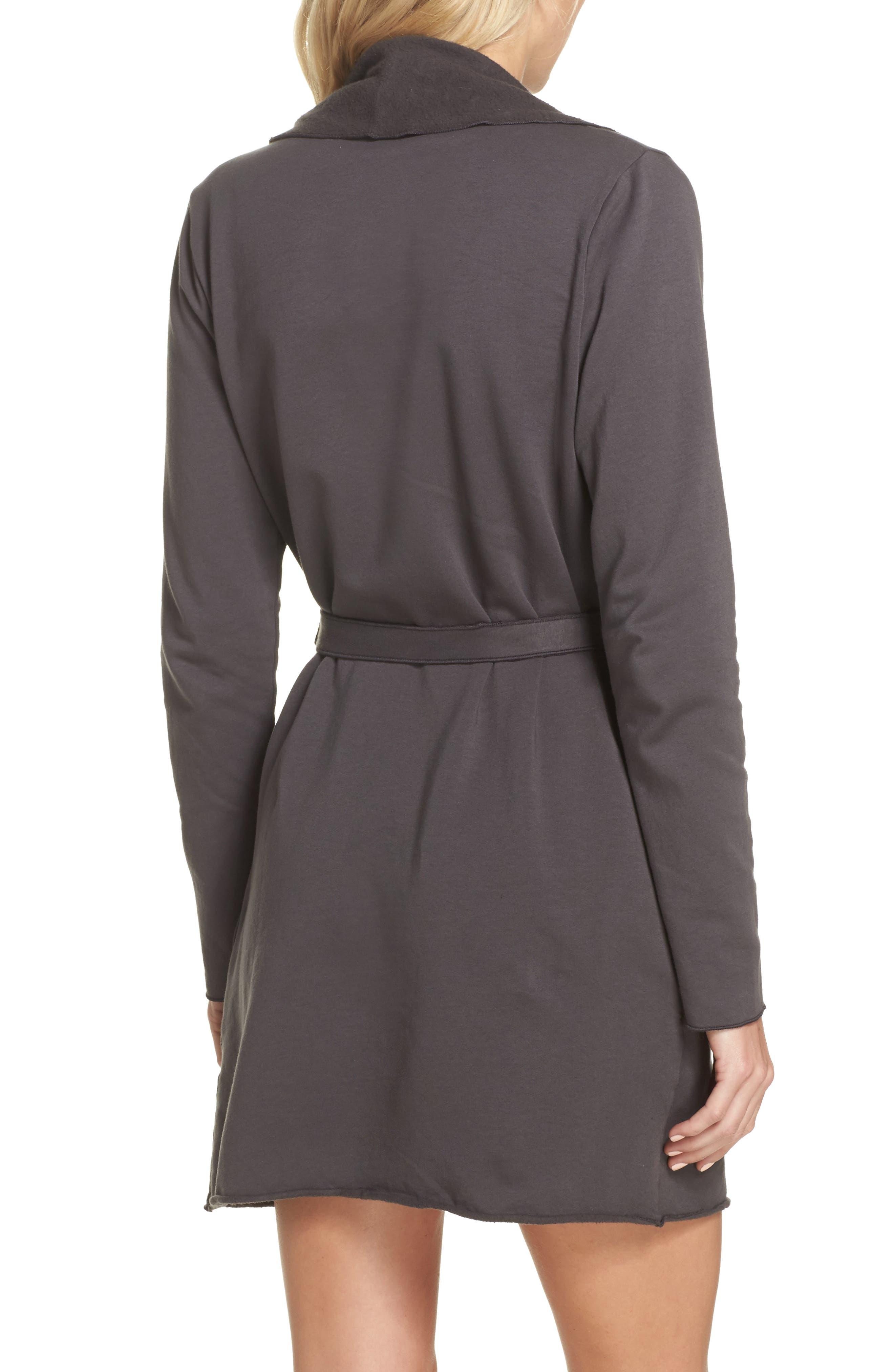 Willa Fleece Short Robe,                             Alternate thumbnail 4, color,