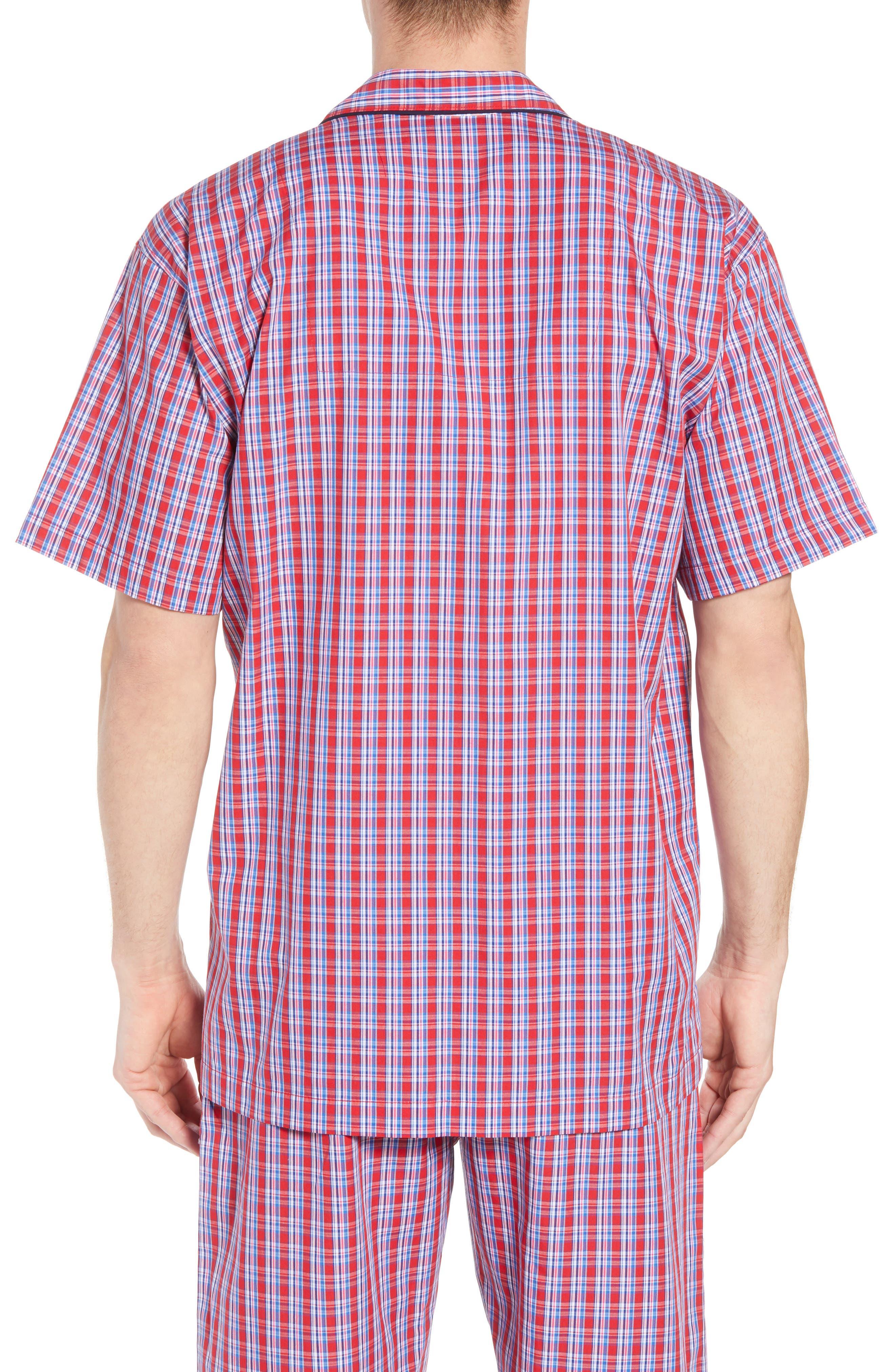 Cotton Pajama Shirt,                             Alternate thumbnail 2, color,                             NEWPORT PLAID/ NAVY