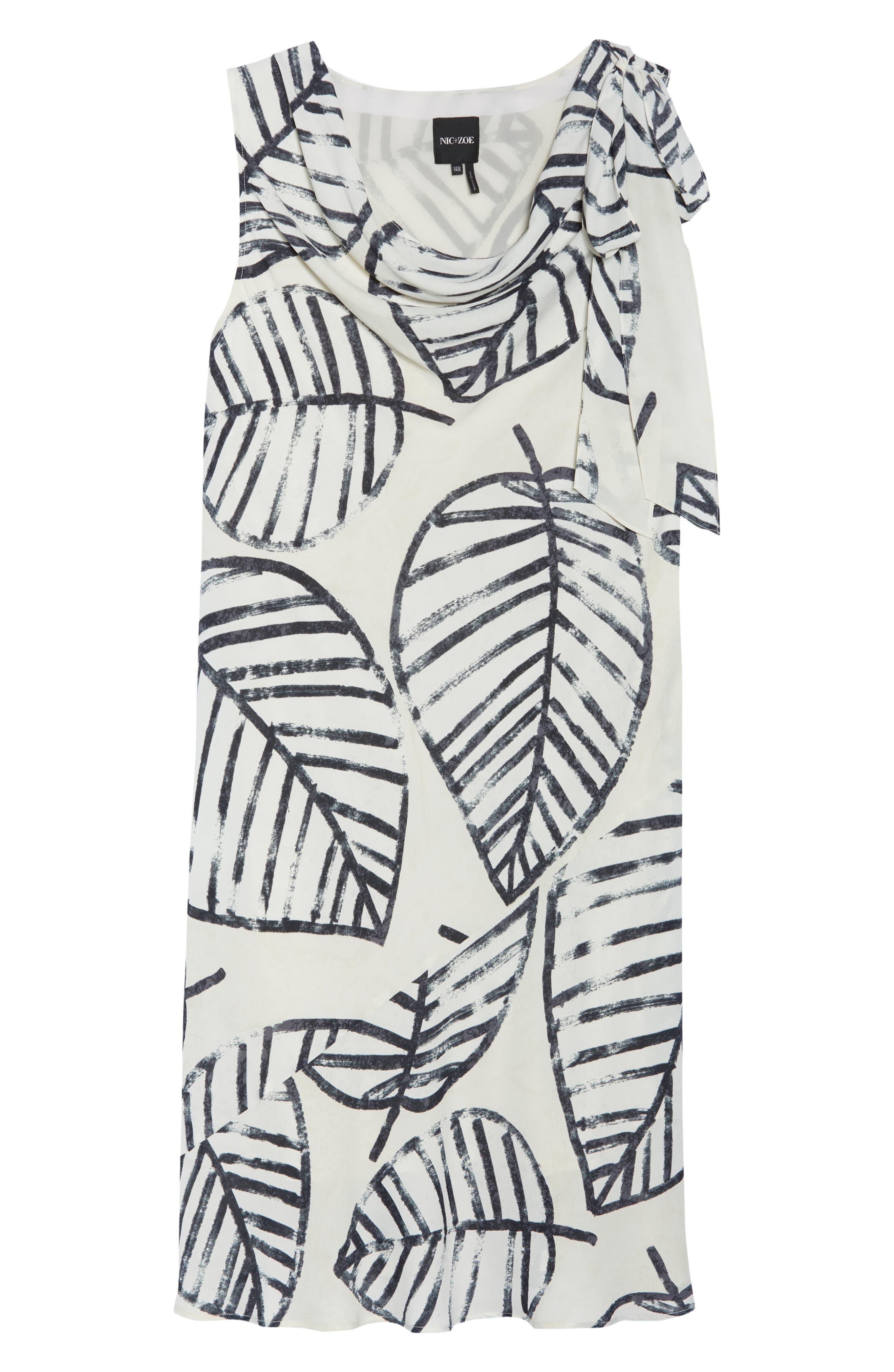 Etched Leaves Tie Dress,                             Alternate thumbnail 7, color,                             257