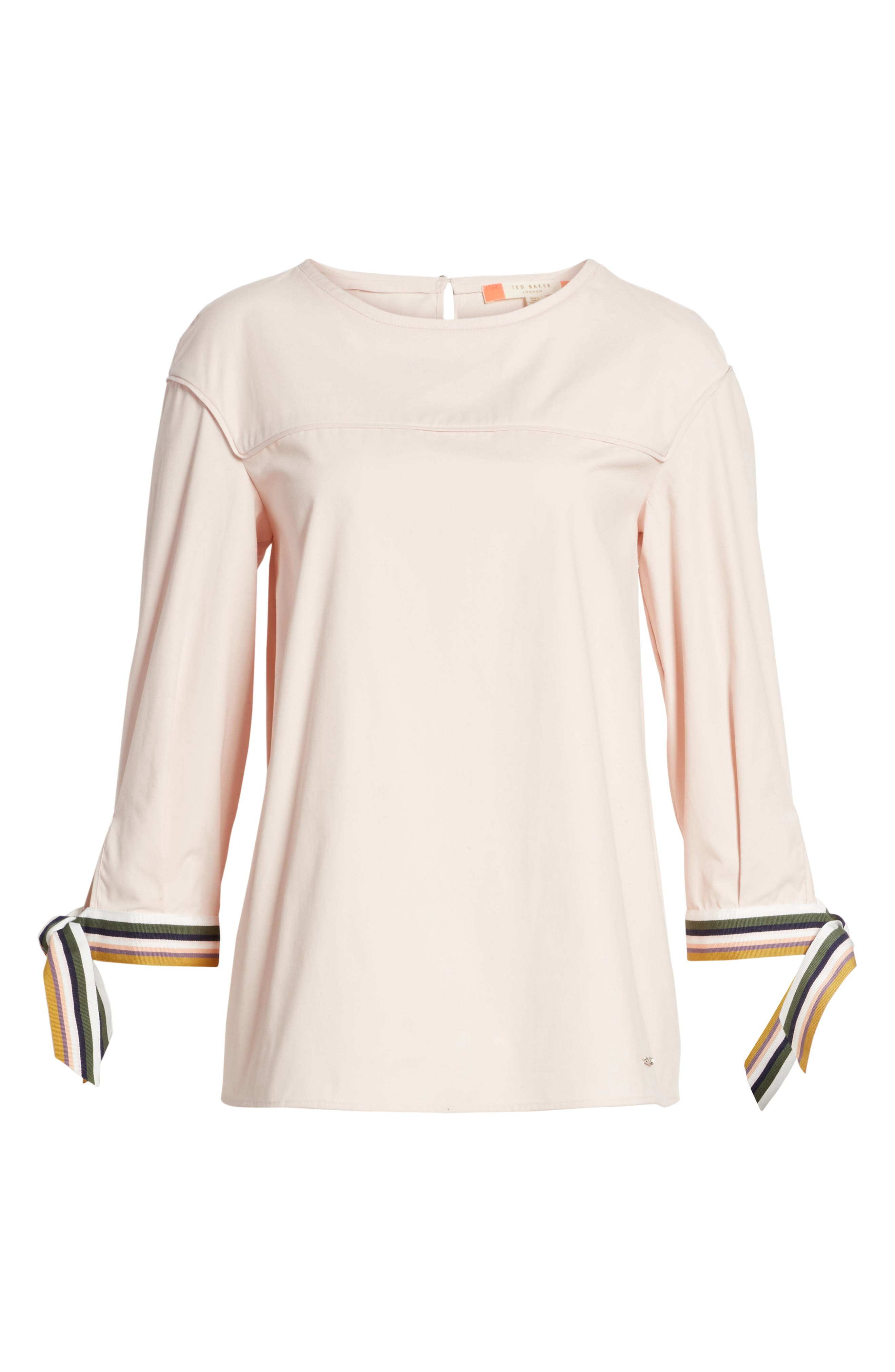 Lillou Tie Sleeve Top,                             Alternate thumbnail 6, color,                             672