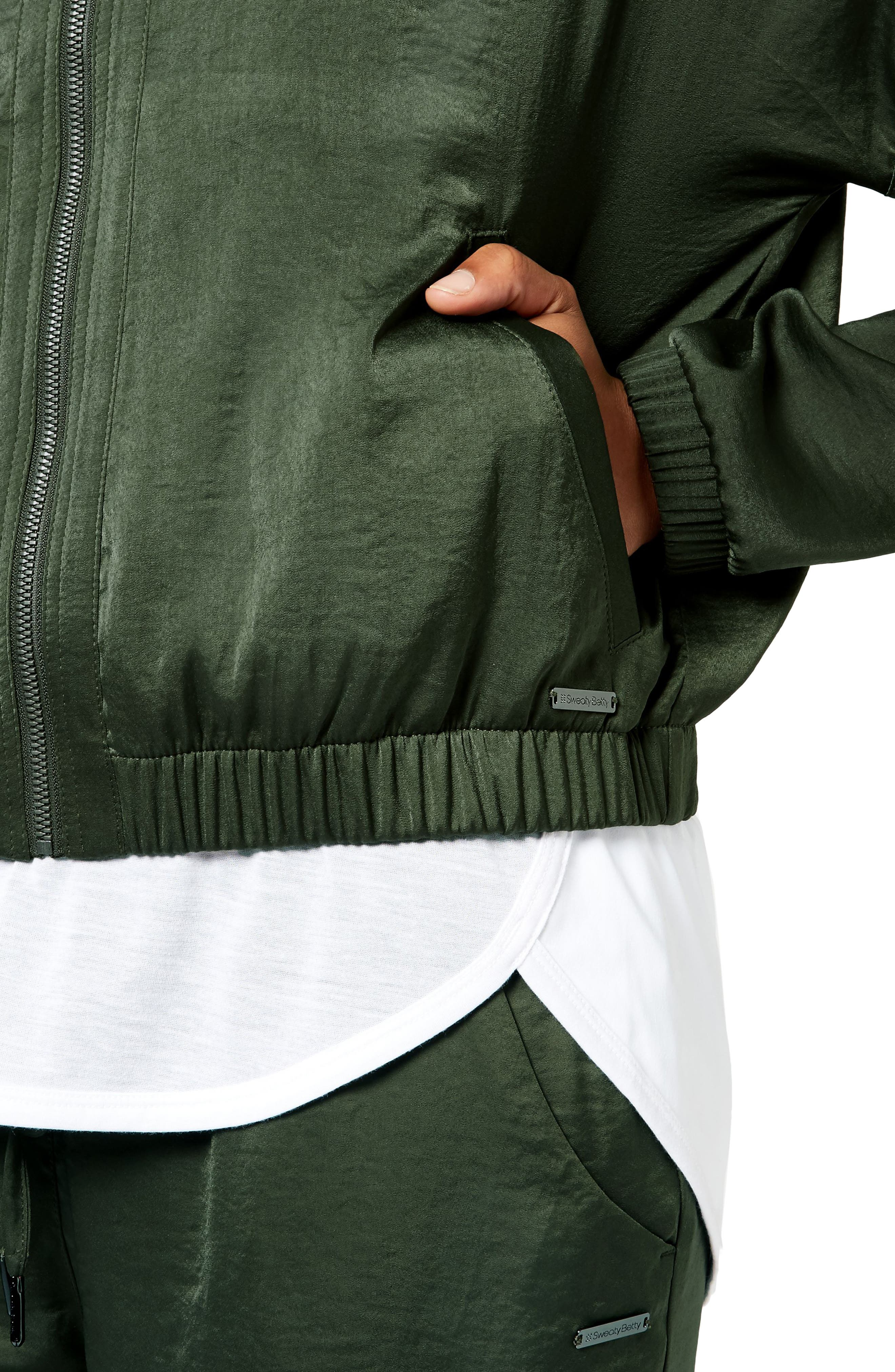 Cargo Luxe Jacket,                             Alternate thumbnail 4, color,                             OLIVE