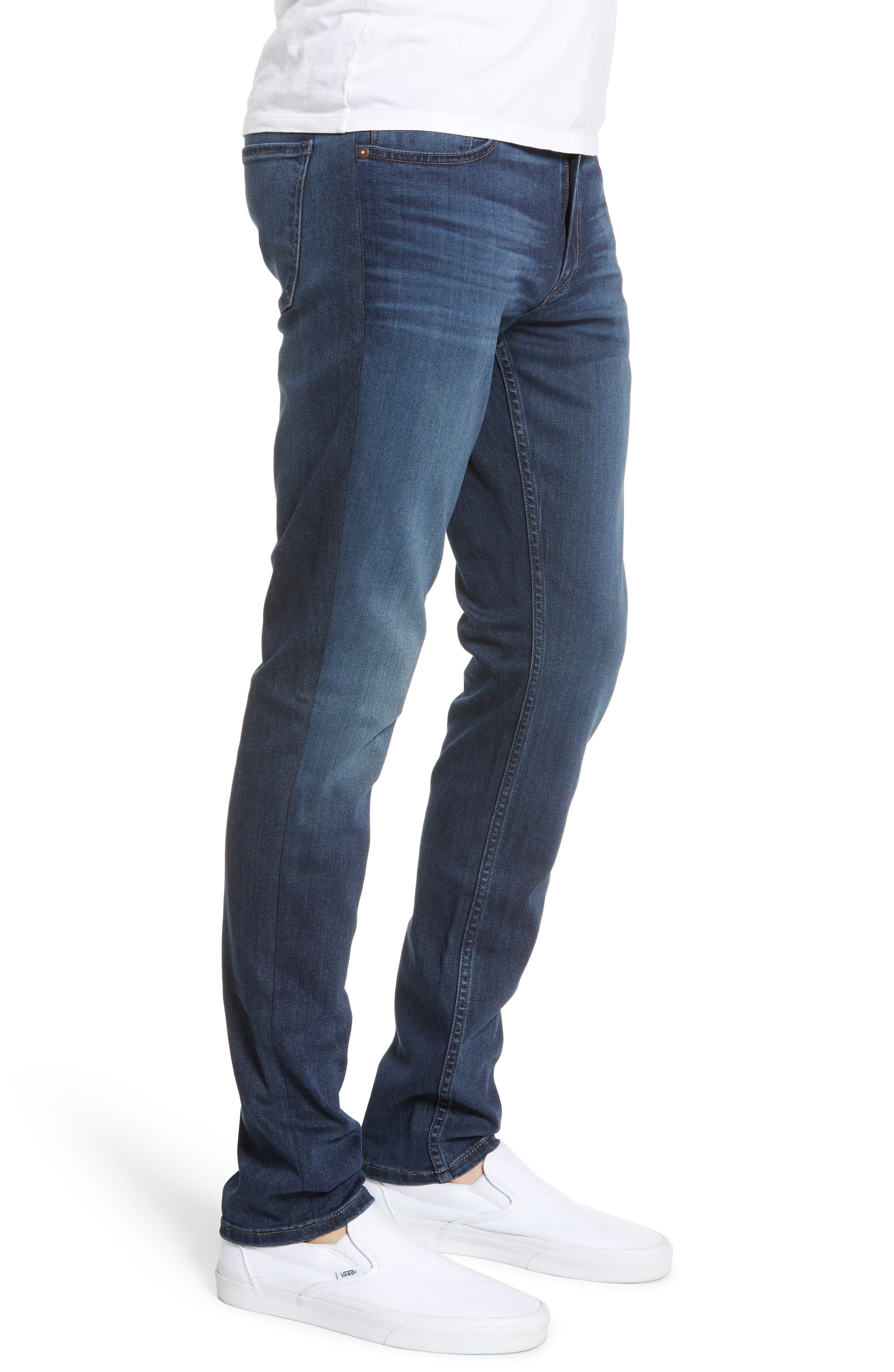 Transcend - Croft Skinny Fit Jeans,                             Alternate thumbnail 3, color,                             HUXLEY