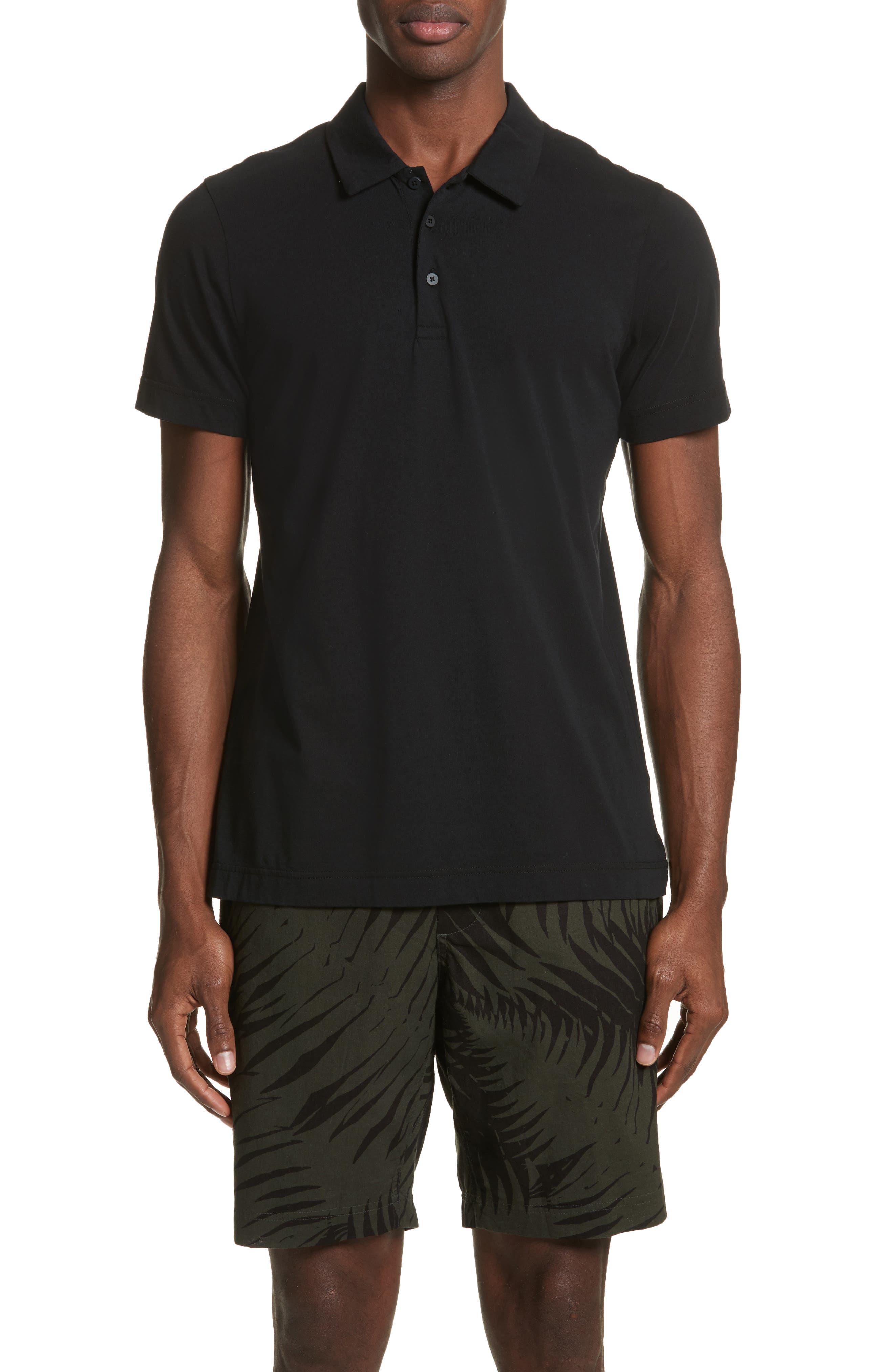 Short Sleeve Polo Shirt,                             Main thumbnail 1, color,                             001