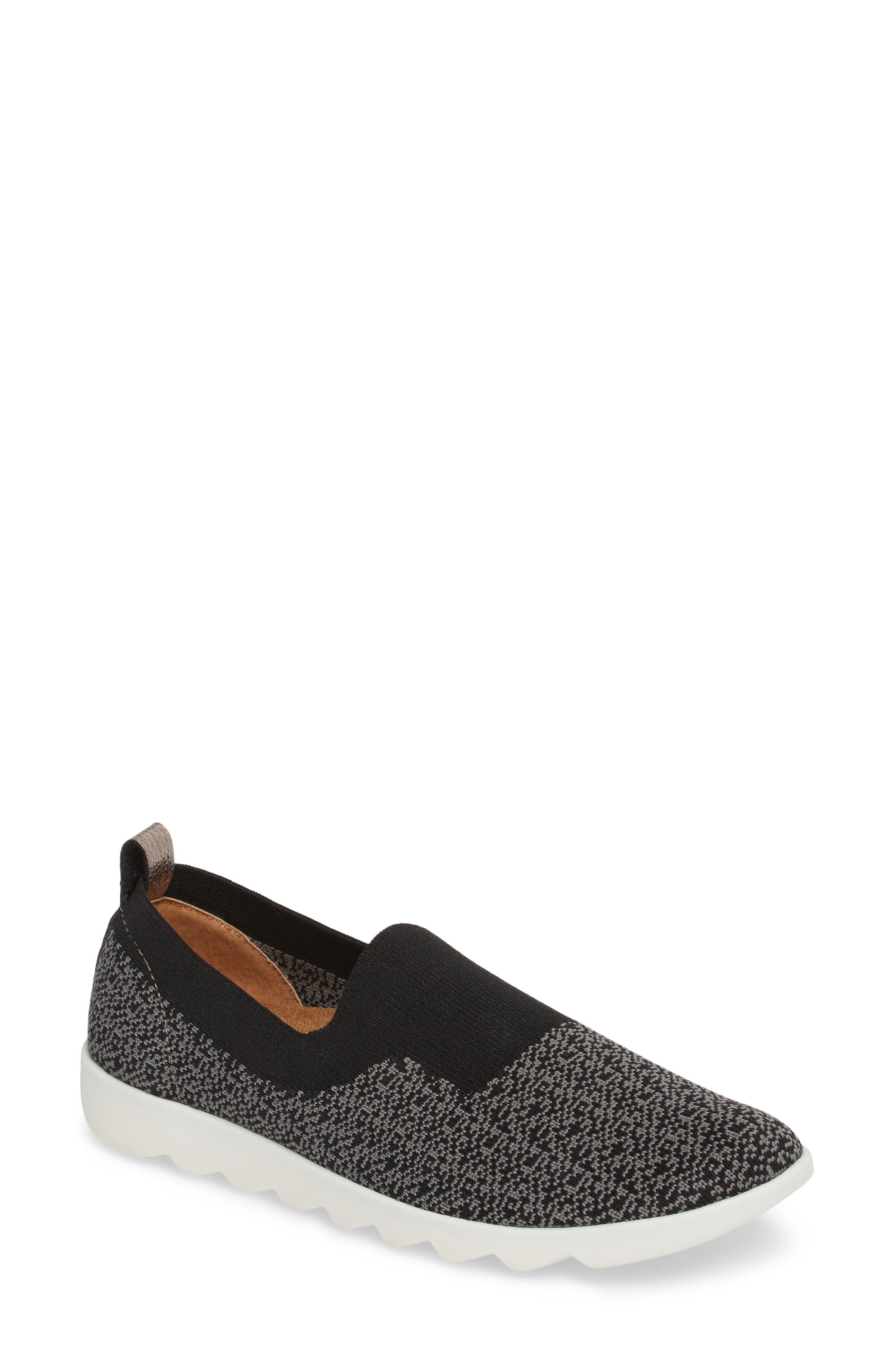 COMFORTIVA Ginger Sock Fit Sneaker, Main, color, BLACK FABRIC