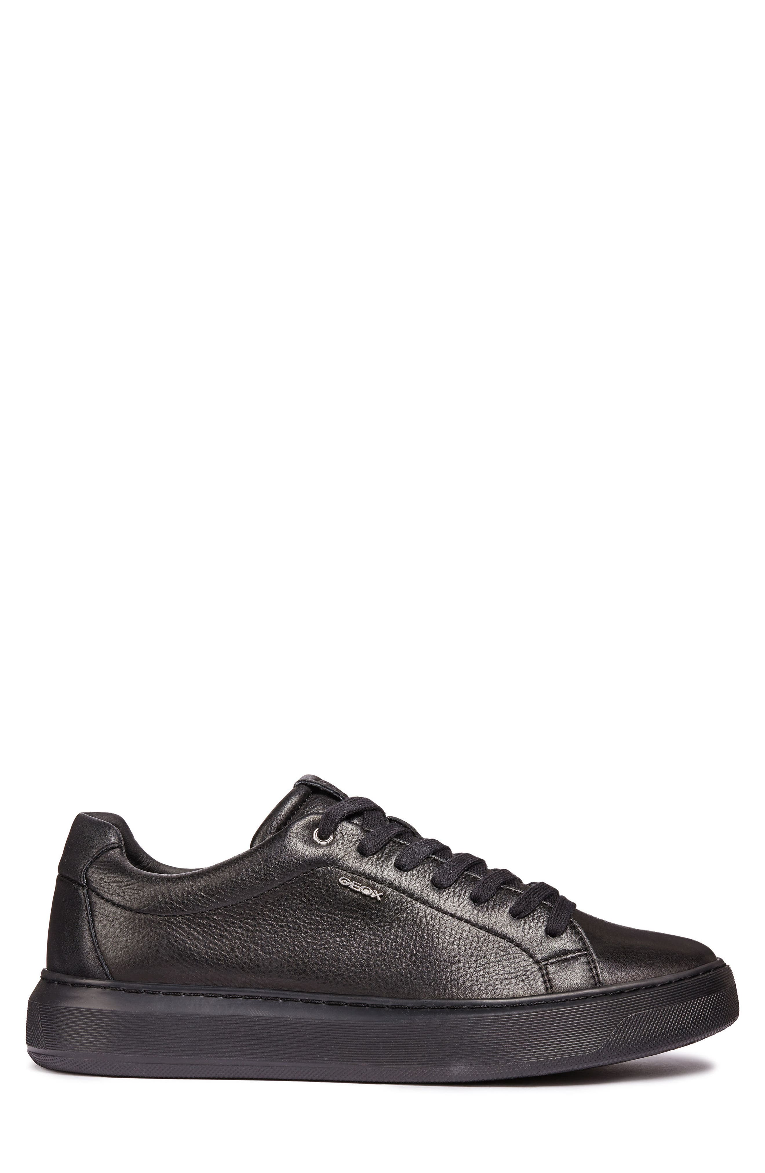 Deiven 4 Low Top Sneaker,                             Alternate thumbnail 3, color,                             BLACK LEATHER