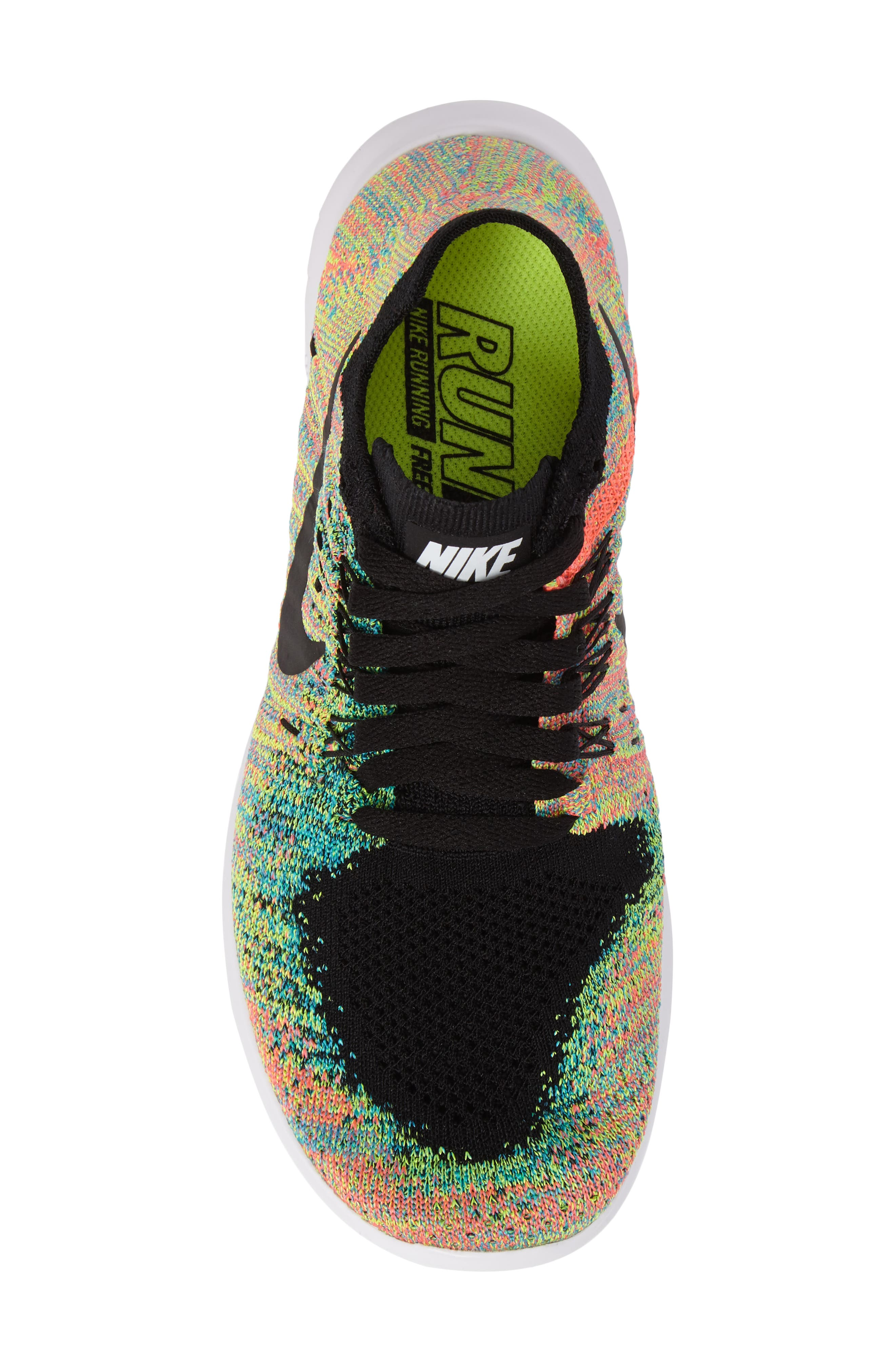 Free RN Flyknit 2017 Running Shoe,                             Alternate thumbnail 5, color,                             001