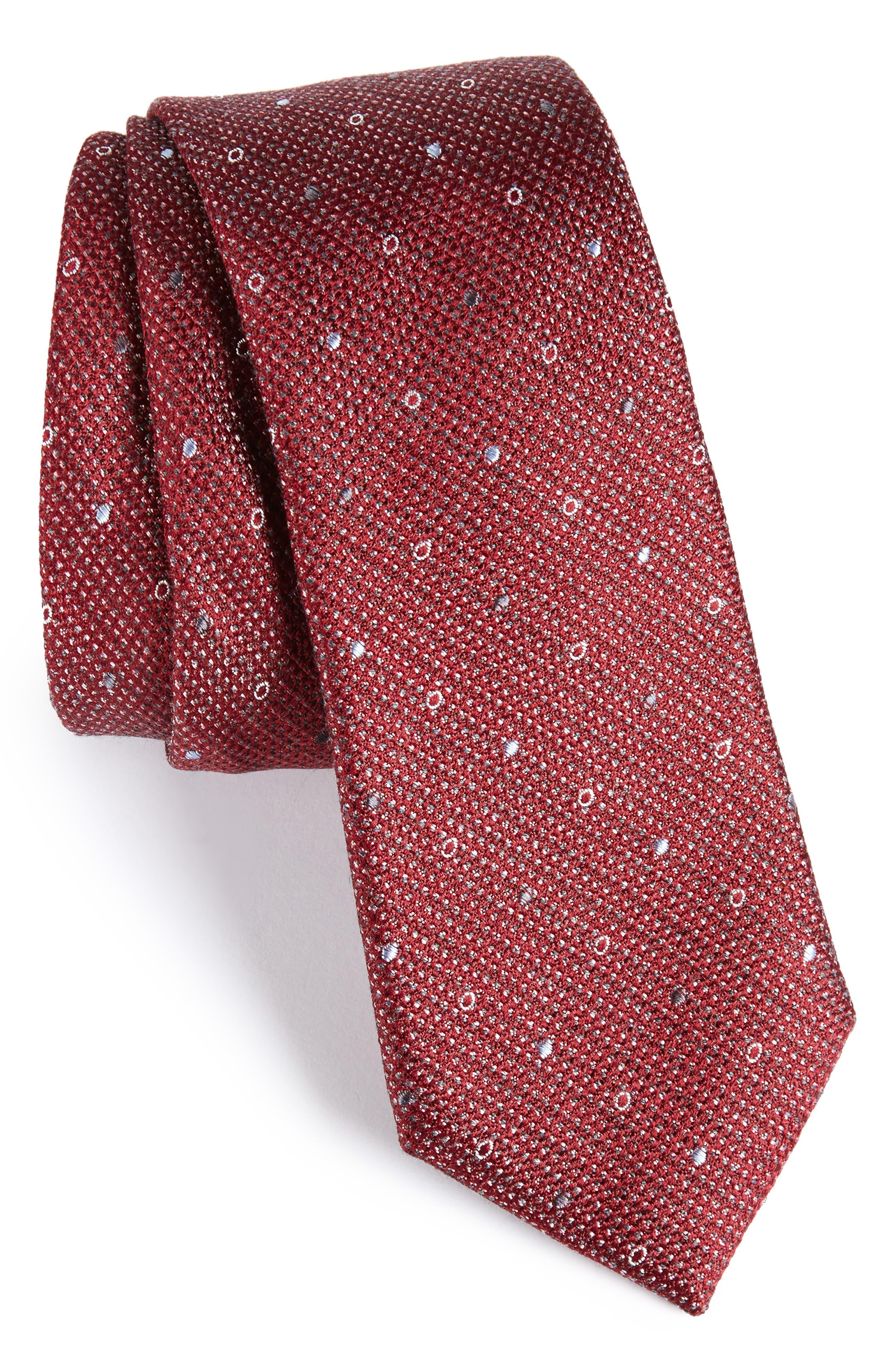 Brubeck Neat Silk Blend Tie,                             Main thumbnail 7, color,