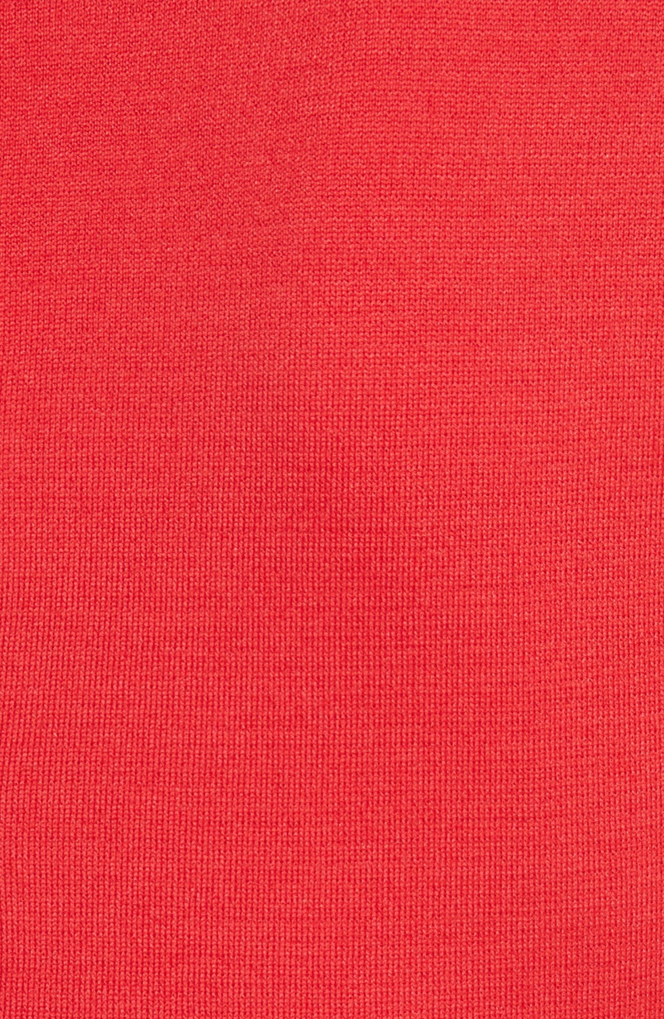 Flap Front Milano Knit Dress,                             Alternate thumbnail 5, color,                             610