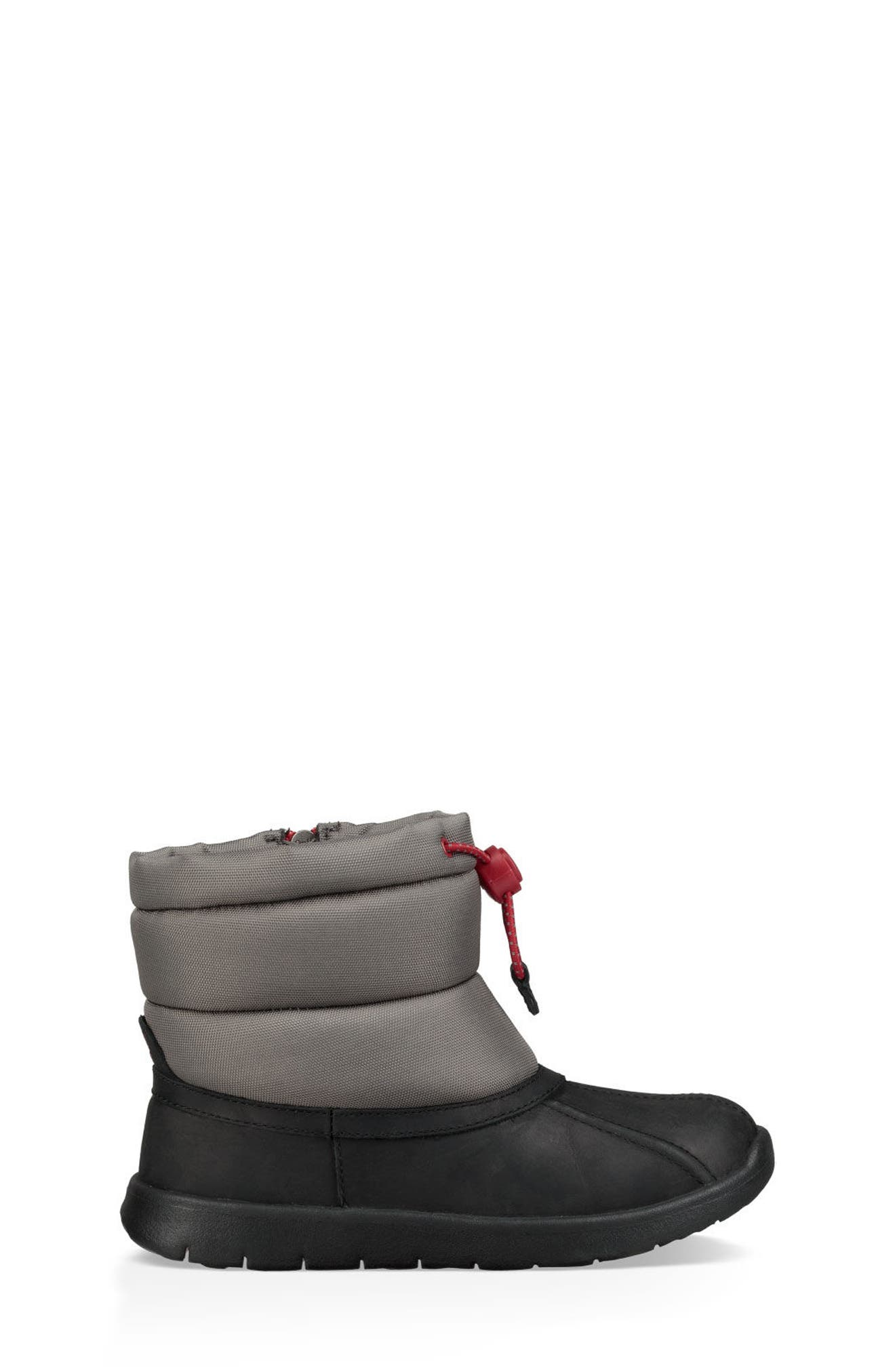 Puffer Winter Boot,                             Alternate thumbnail 3, color,                             BLACK