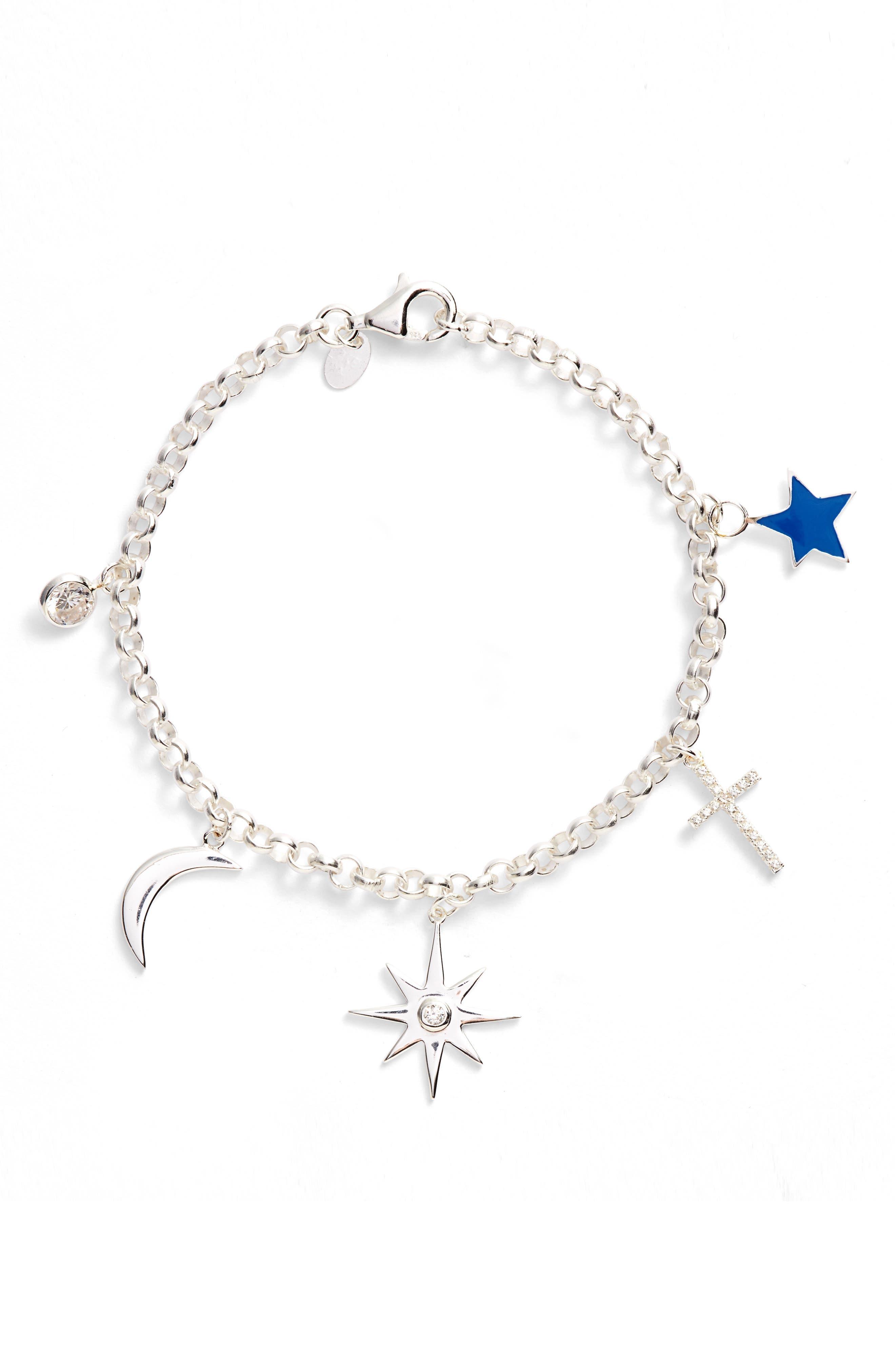 North Star Charm Bracelet,                             Main thumbnail 1, color,