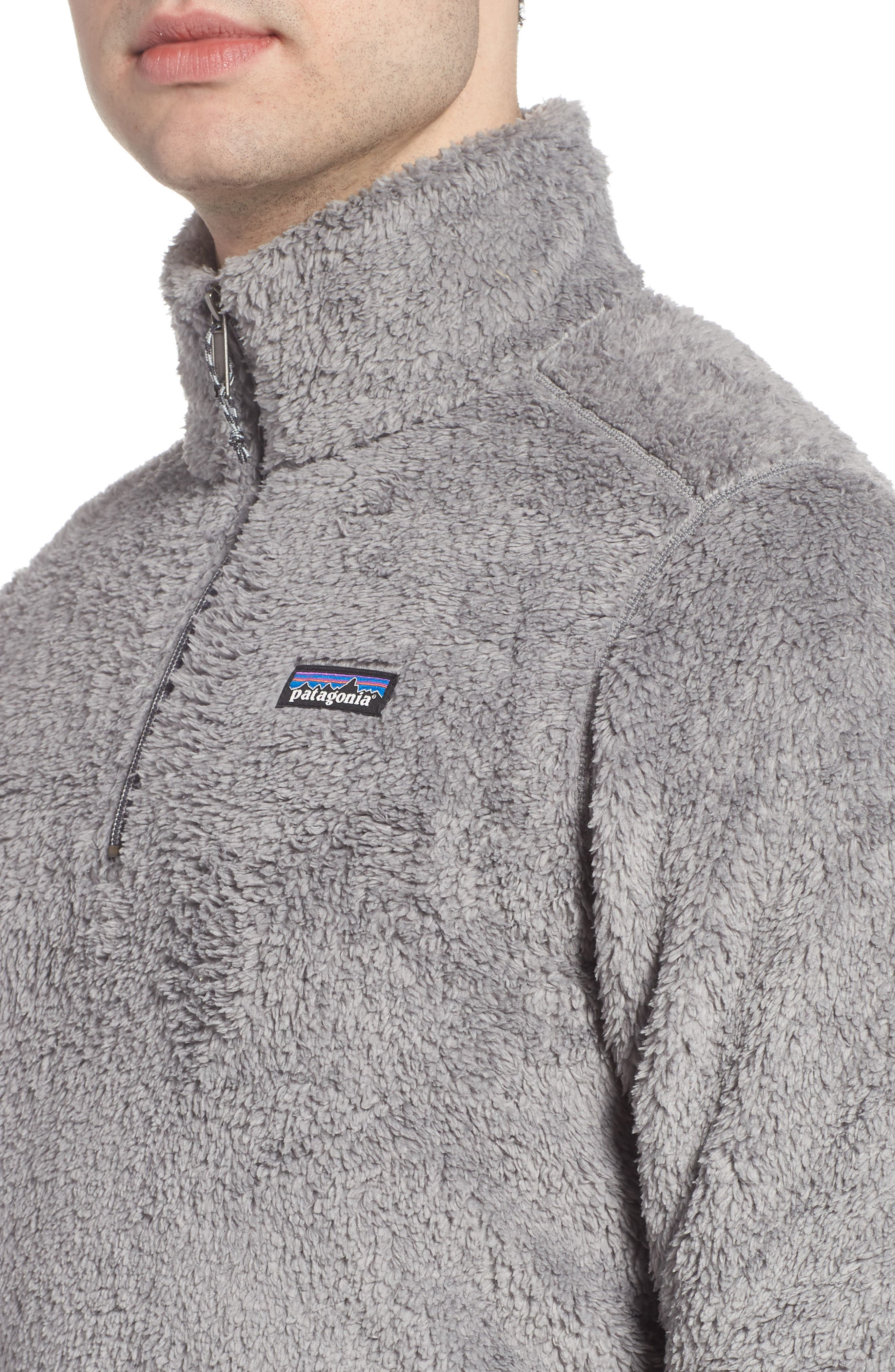 Los Gatos Quarter Zip Pullover,                             Alternate thumbnail 4, color,                             FEATHER GREY