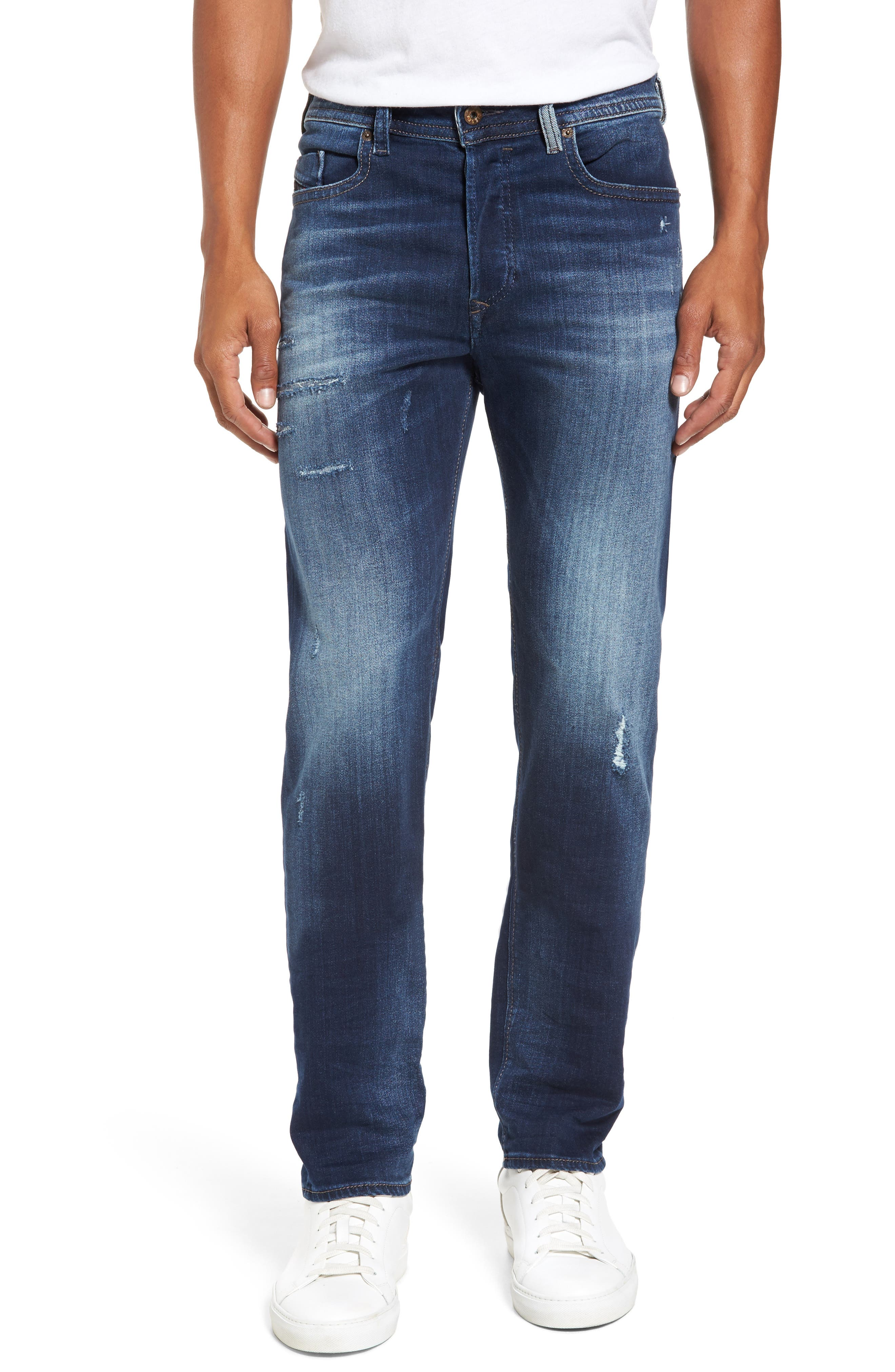 Buster Slim Straight Leg Jeans,                         Main,                         color, 900