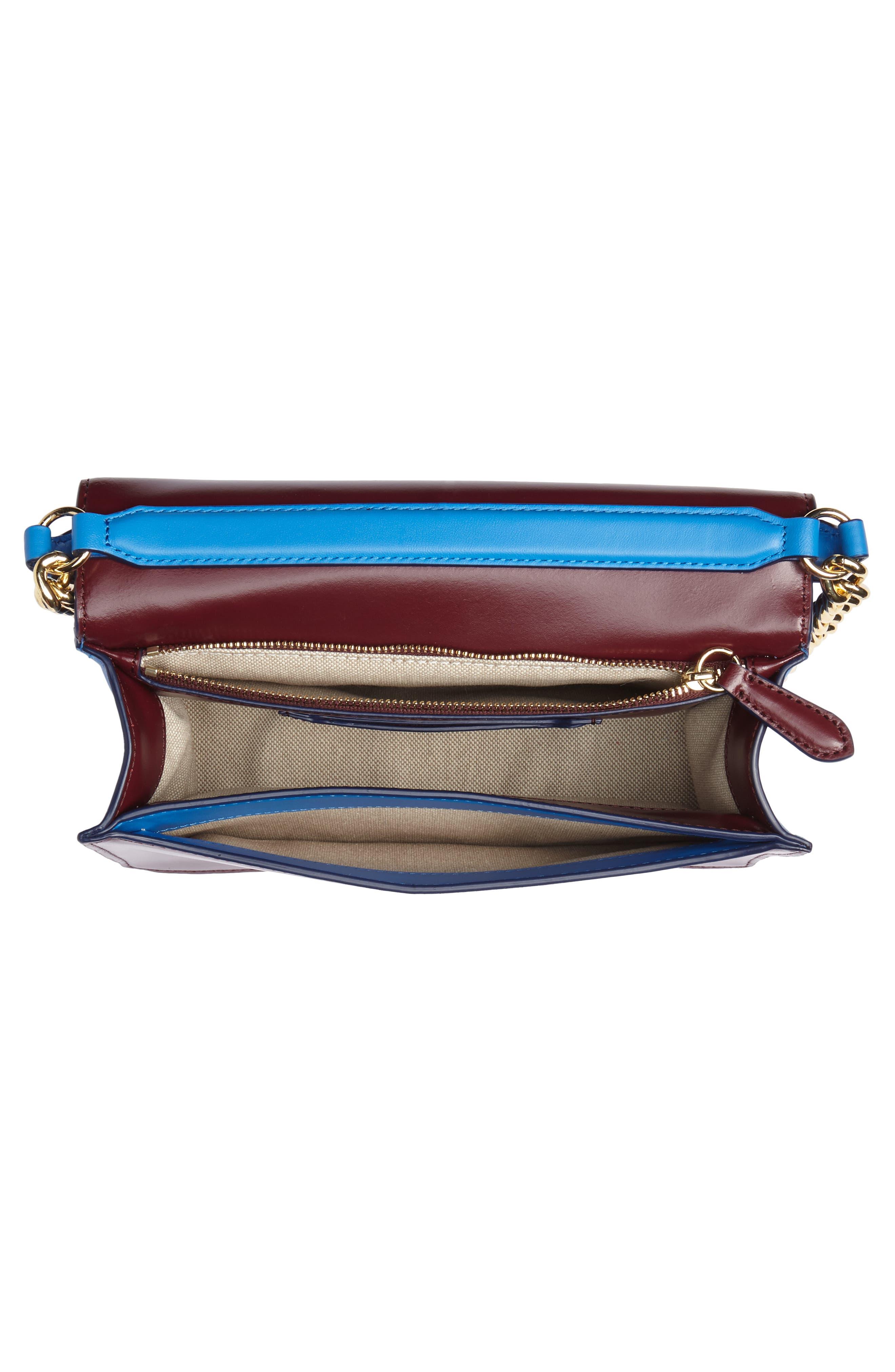Bonne Soirée Leather & Suede Top Handle Bag,                             Alternate thumbnail 4, color,                             400