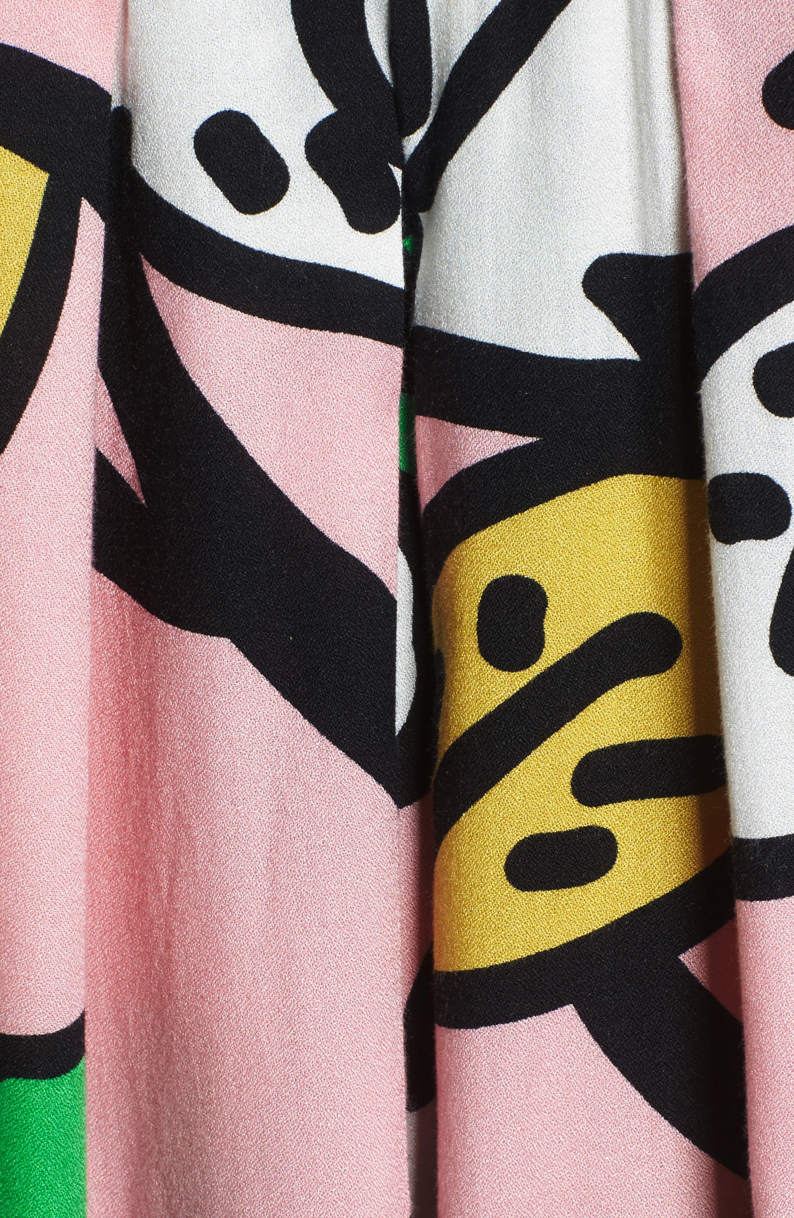 Ancona Mod Print Shift Dress,                             Alternate thumbnail 6, color,