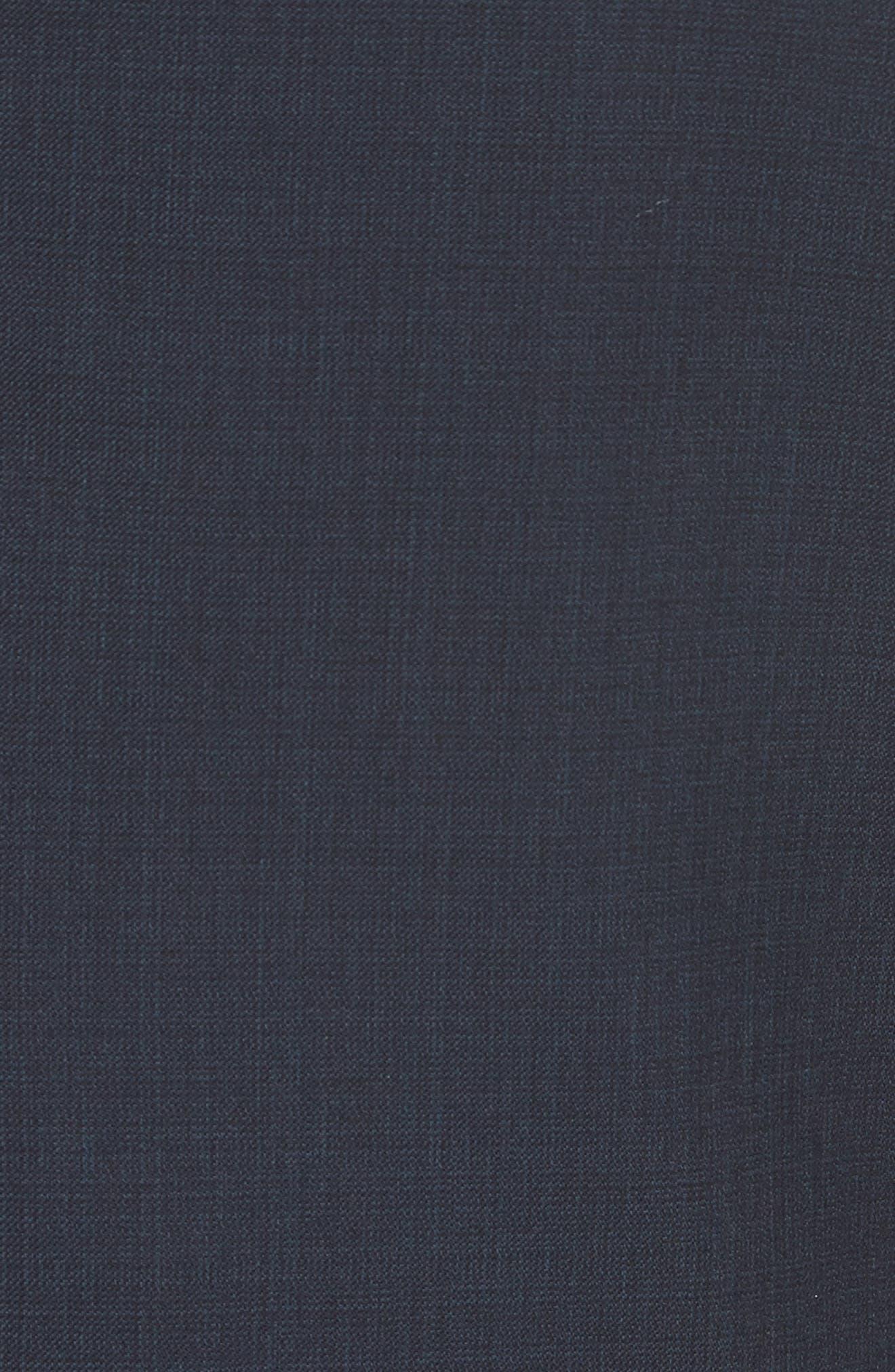 Trim Fit Sharkskin Wool Suit,                             Alternate thumbnail 14, color,