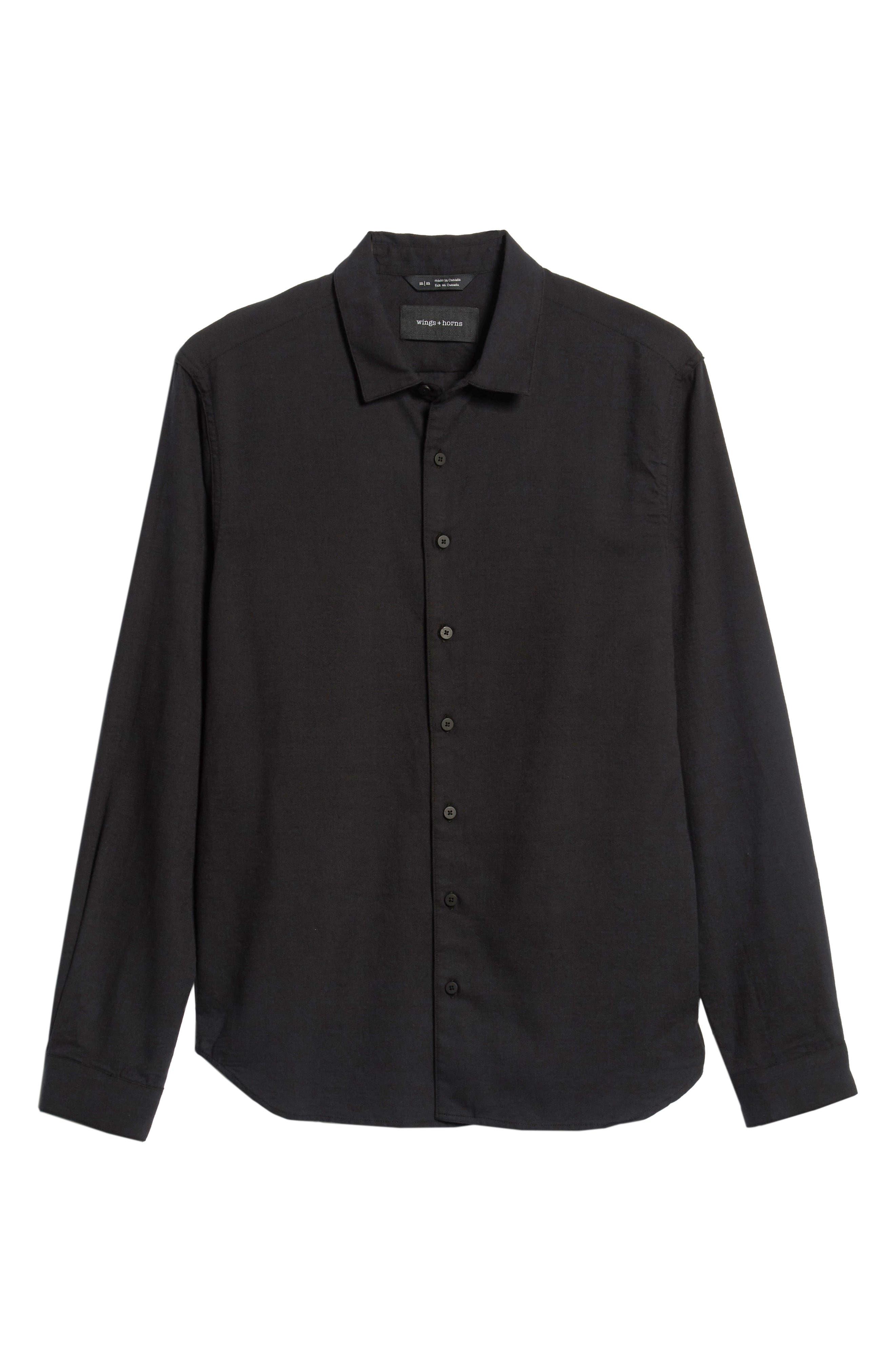 Officer Sport Shirt,                             Alternate thumbnail 5, color,                             MIDNIGHT