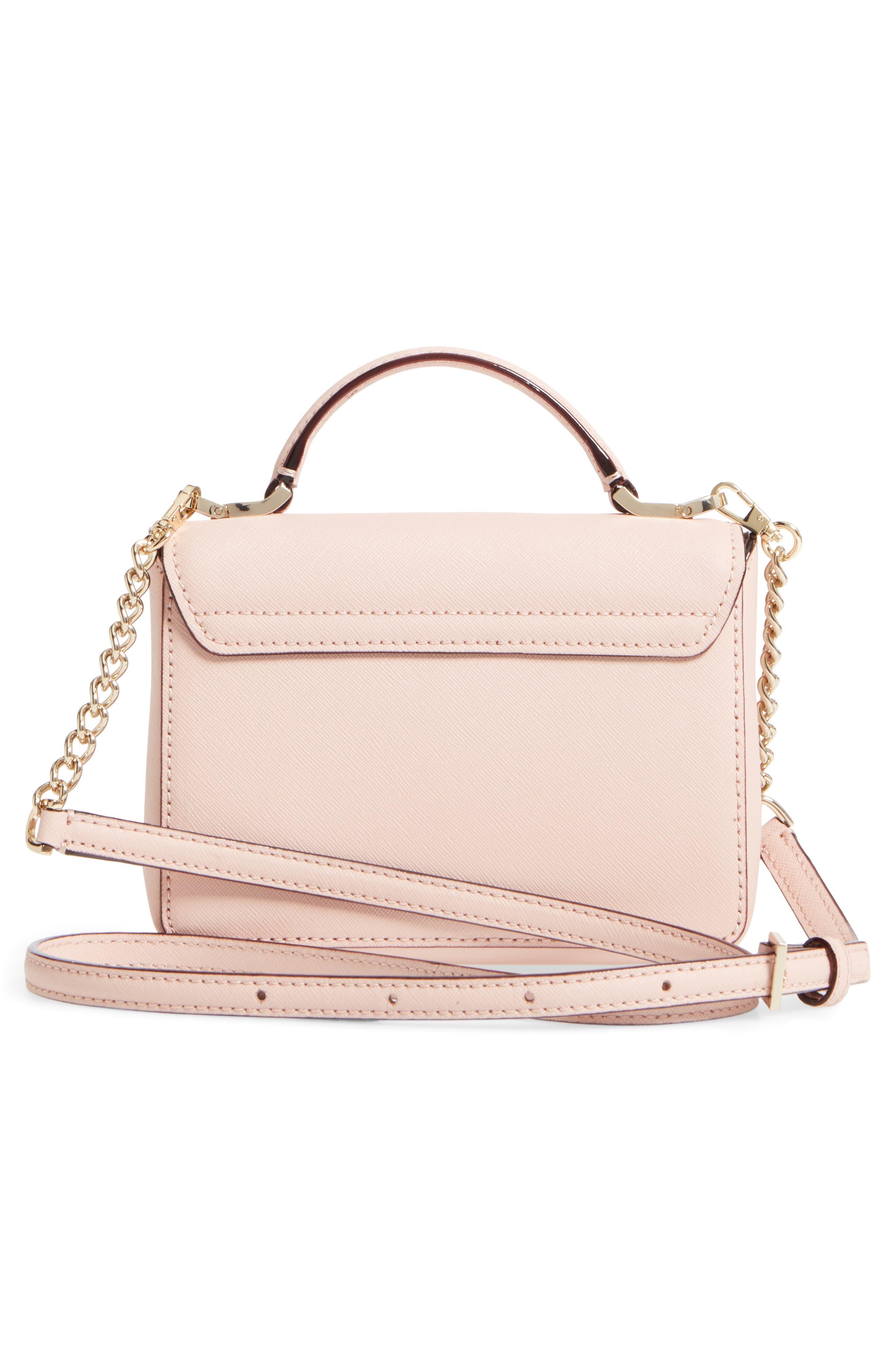 cameron street - hope saffiano leather crossbody bag,                             Alternate thumbnail 9, color,