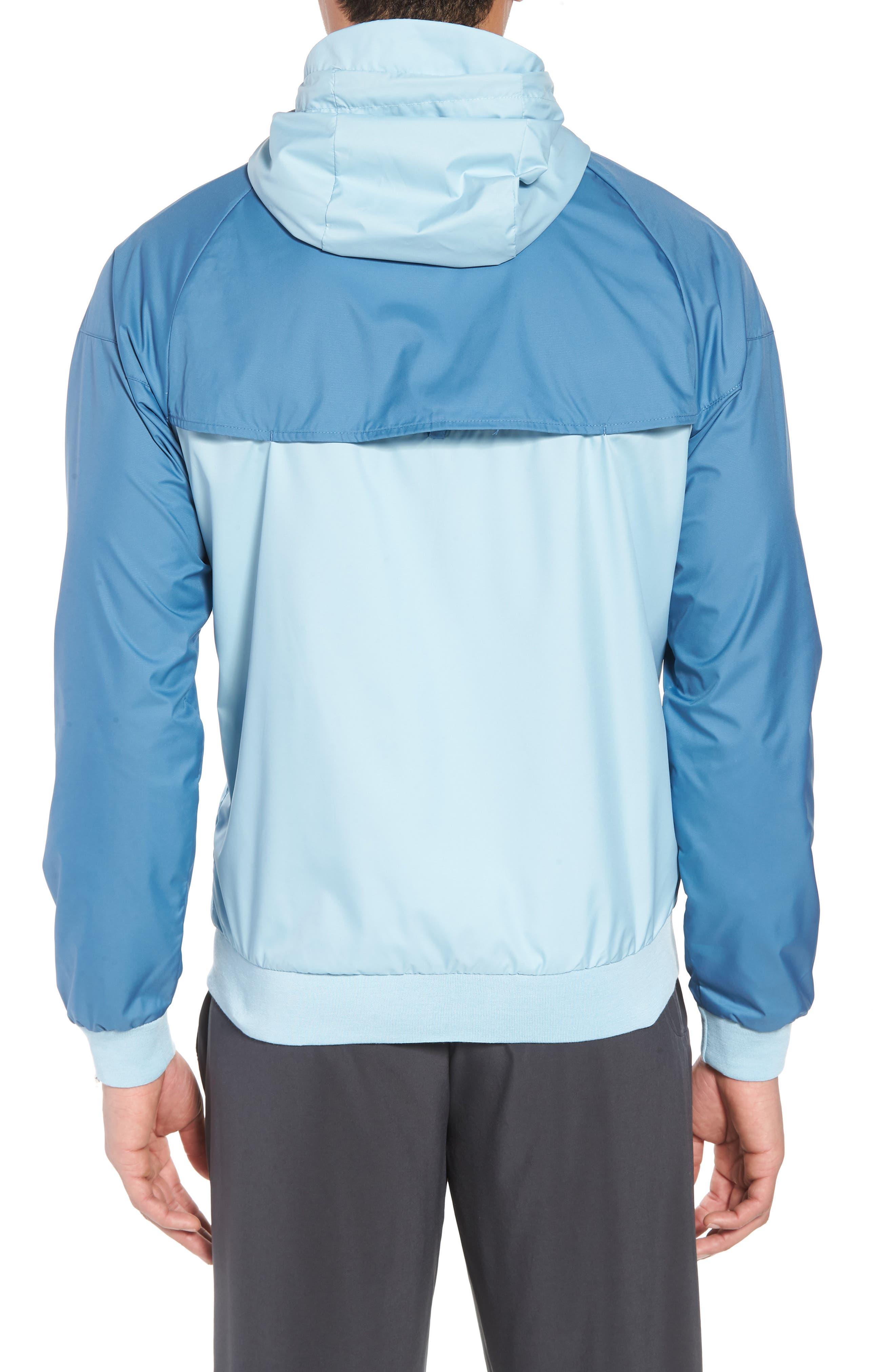 NIKE,                             Windrunner Colorblock Jacket,                             Alternate thumbnail 2, color,                             OCEAN BLISS/ AEGEAN STORM