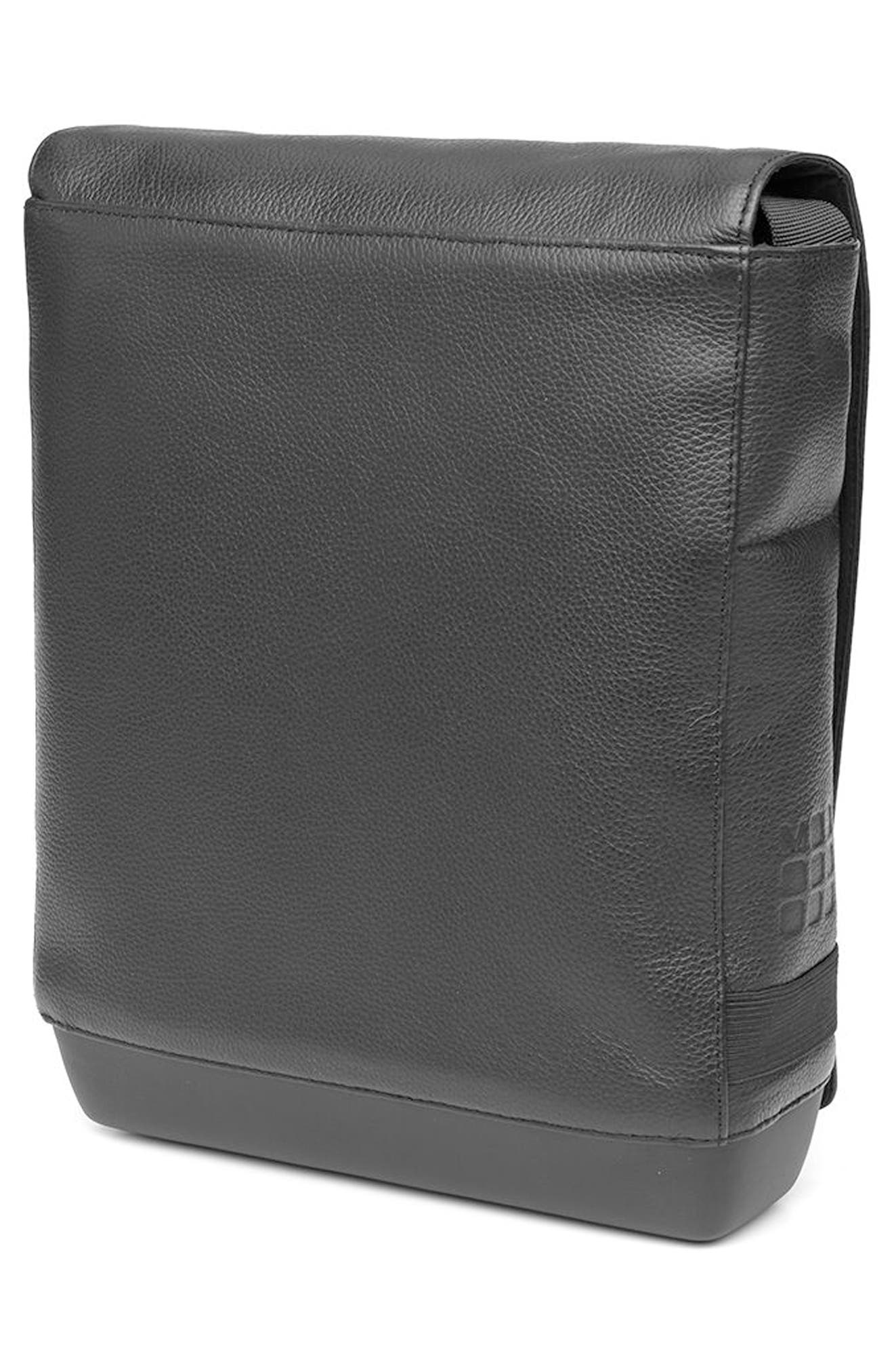 Leather Reporter Bag,                             Alternate thumbnail 2, color,                             001