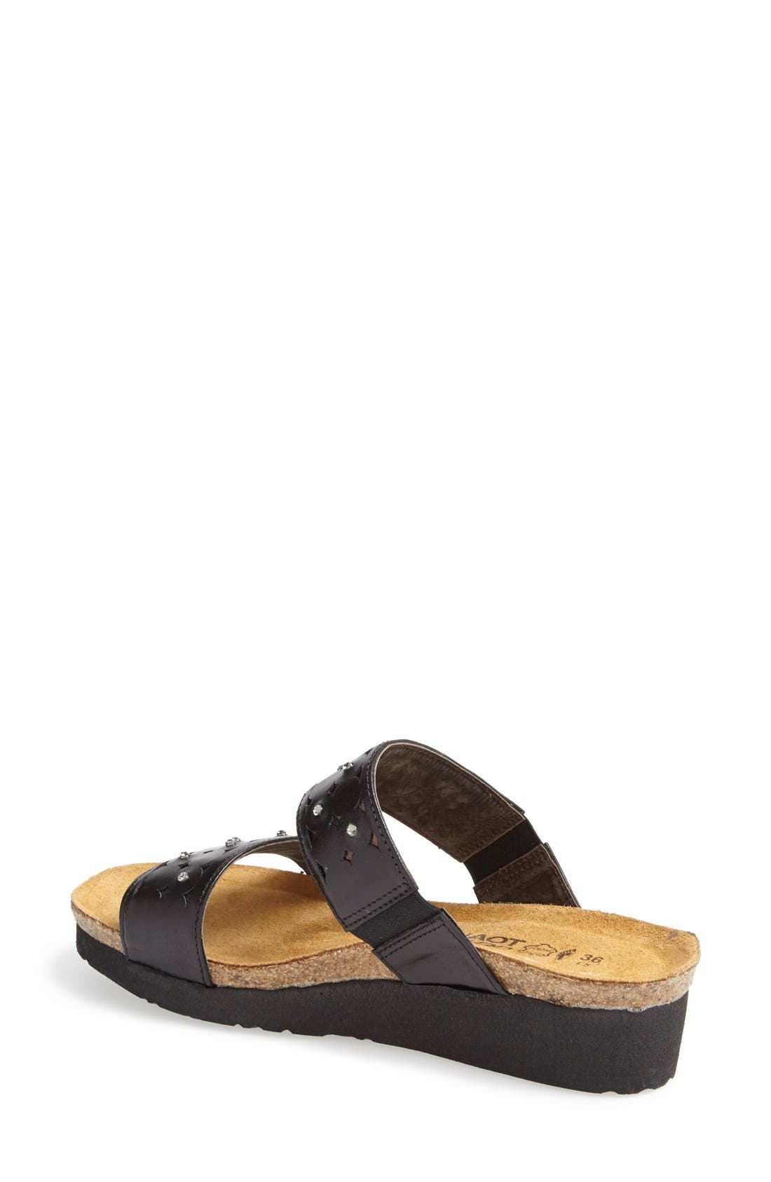 'Susan' Sandal,                             Alternate thumbnail 2, color,                             BLACK/ BROWN