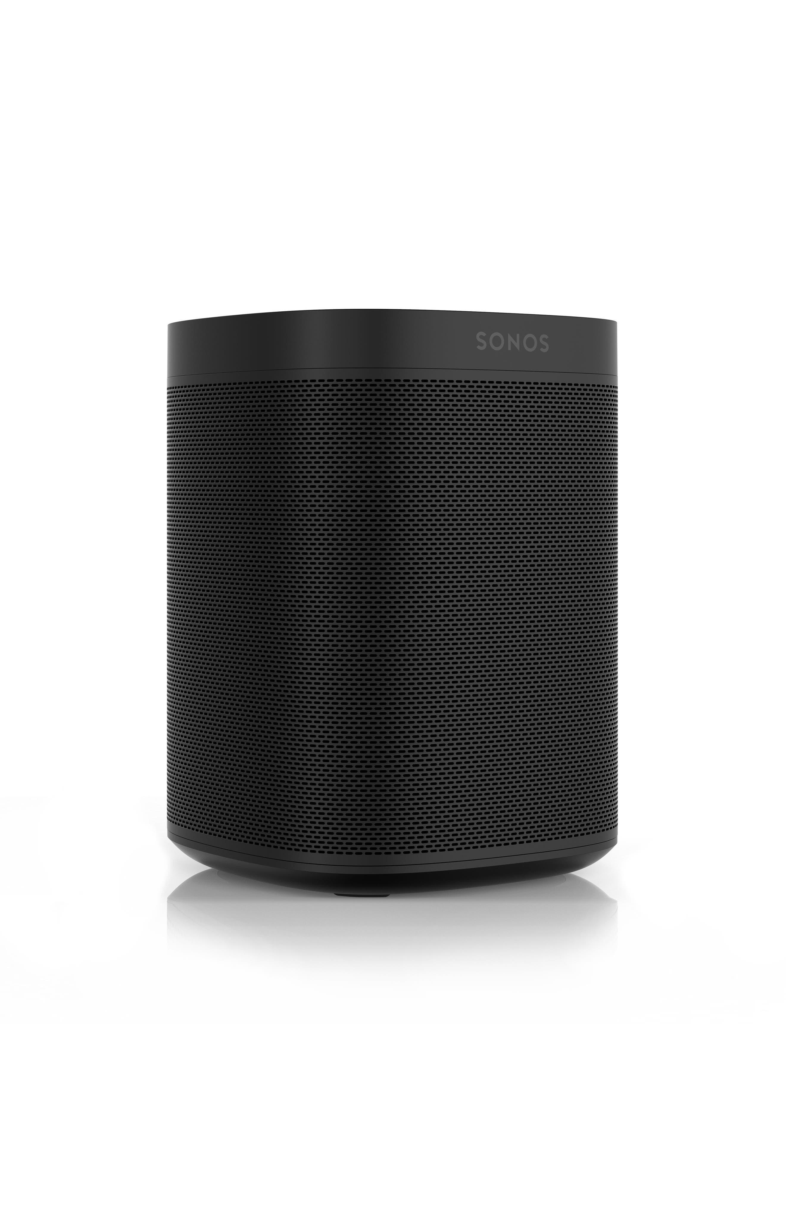 One Voice Controlled Smart Speaker,                             Alternate thumbnail 3, color,                             BLACK