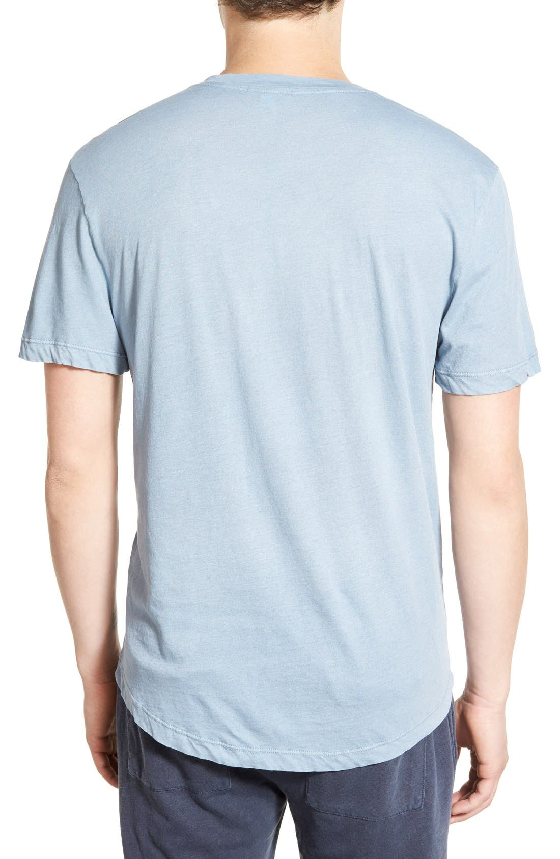 'Clear Jersey' Mélange V-Neck T-Shirt,                             Alternate thumbnail 36, color,