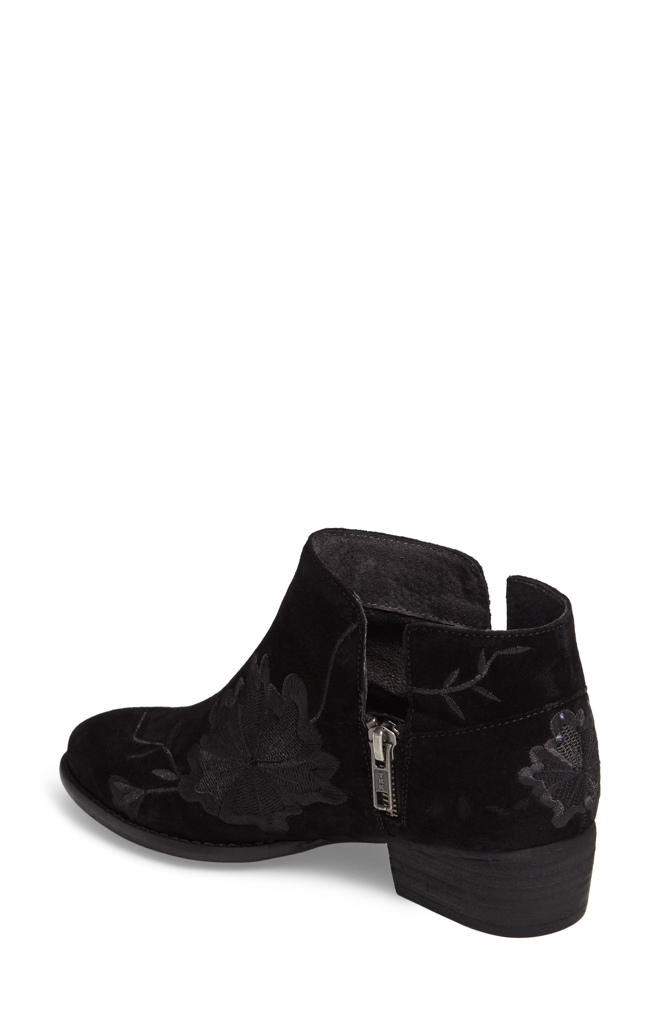 Lantern Embroidered Short Bootie,                             Alternate thumbnail 2, color,                             001