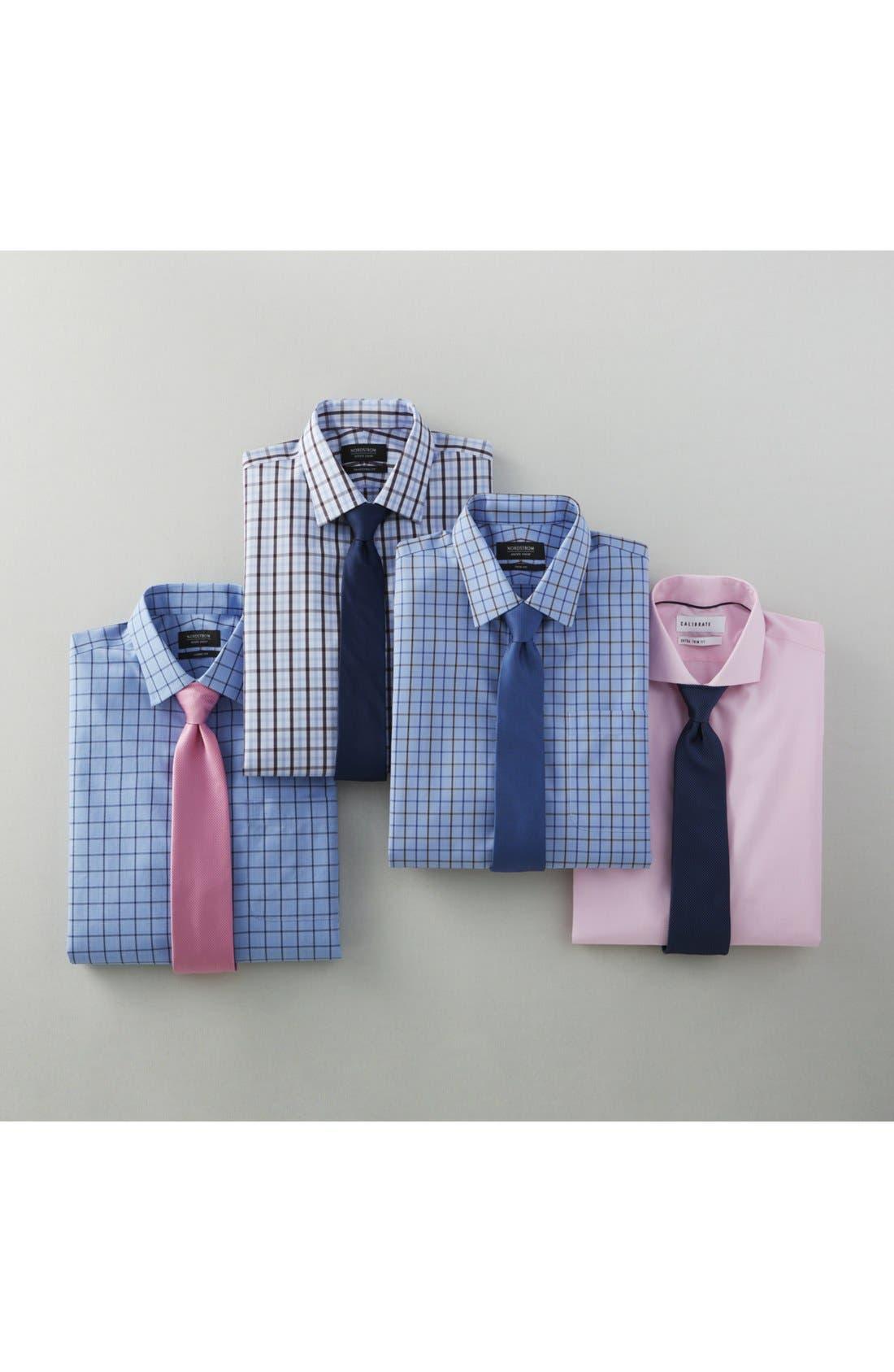 Extra Trim Fit Stretch No-Iron Dress Shirt,                             Alternate thumbnail 4, color,                             401