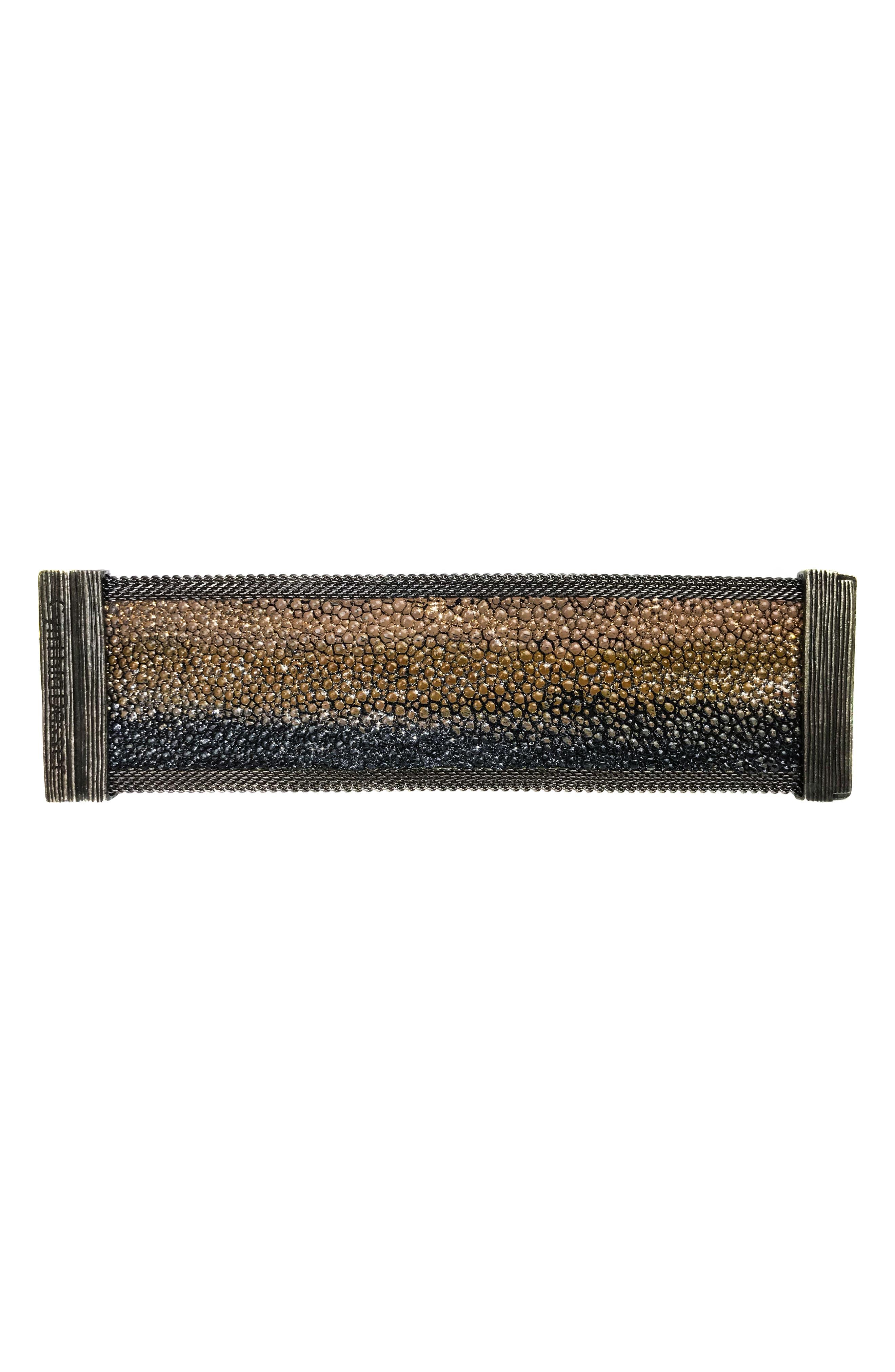 Shimmer Stingray Bracelet,                             Alternate thumbnail 3, color,                             001