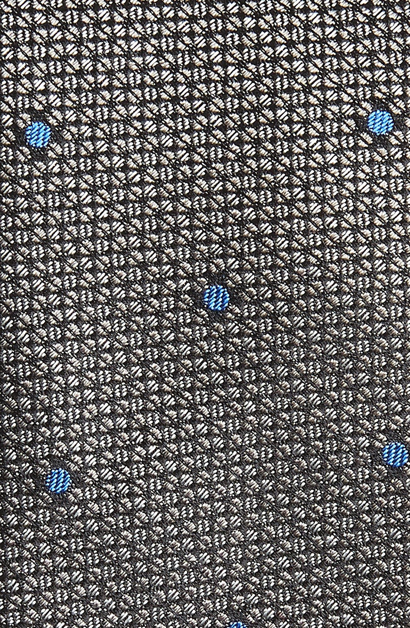 Dot Silk Tie,                             Alternate thumbnail 2, color,                             CHARCOAL