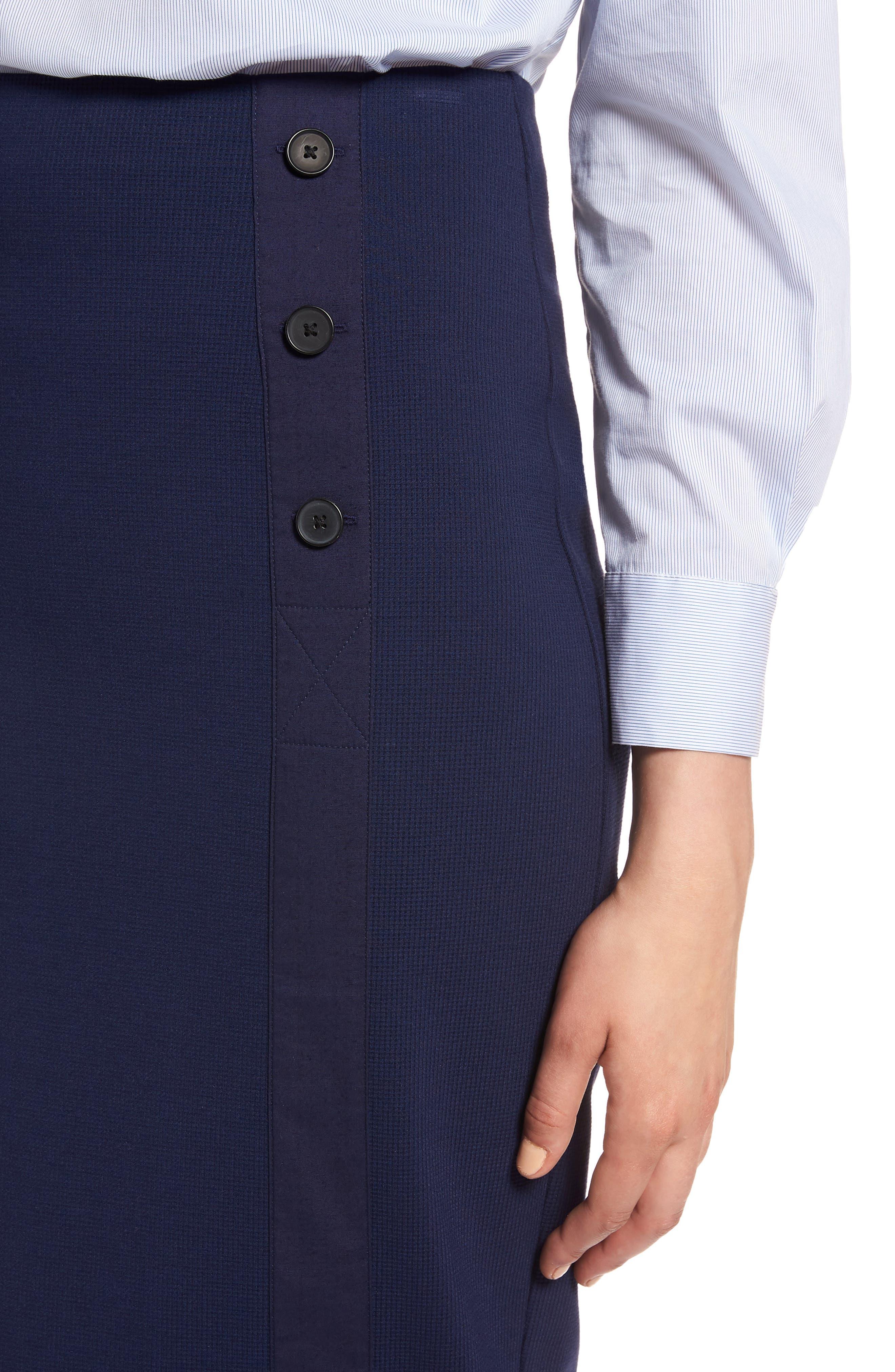 Textured Ponte Pencil Skirt,                             Alternate thumbnail 4, color,                             410