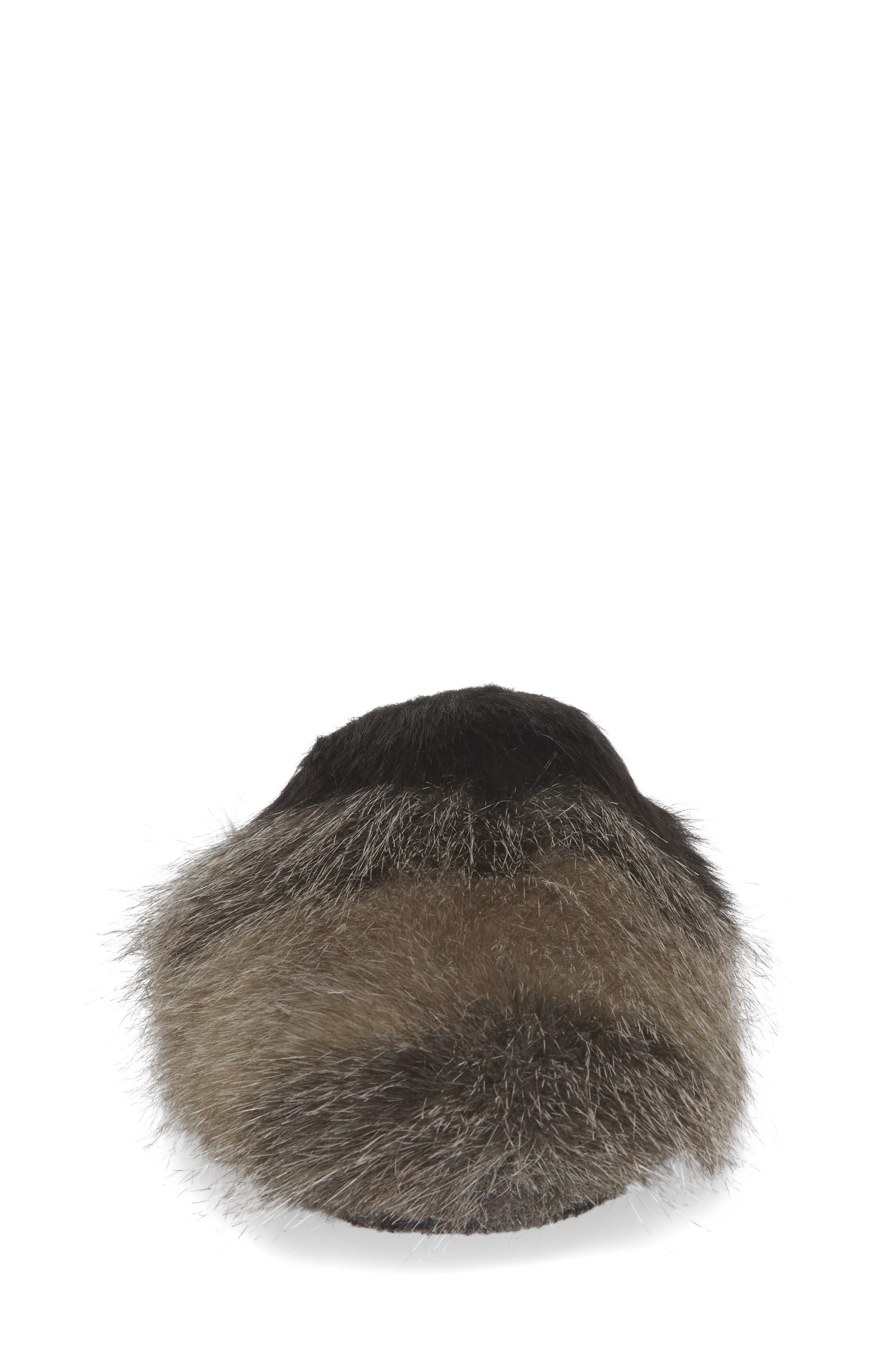 Hideaway Faux Fur Mule,                             Alternate thumbnail 4, color,                             030