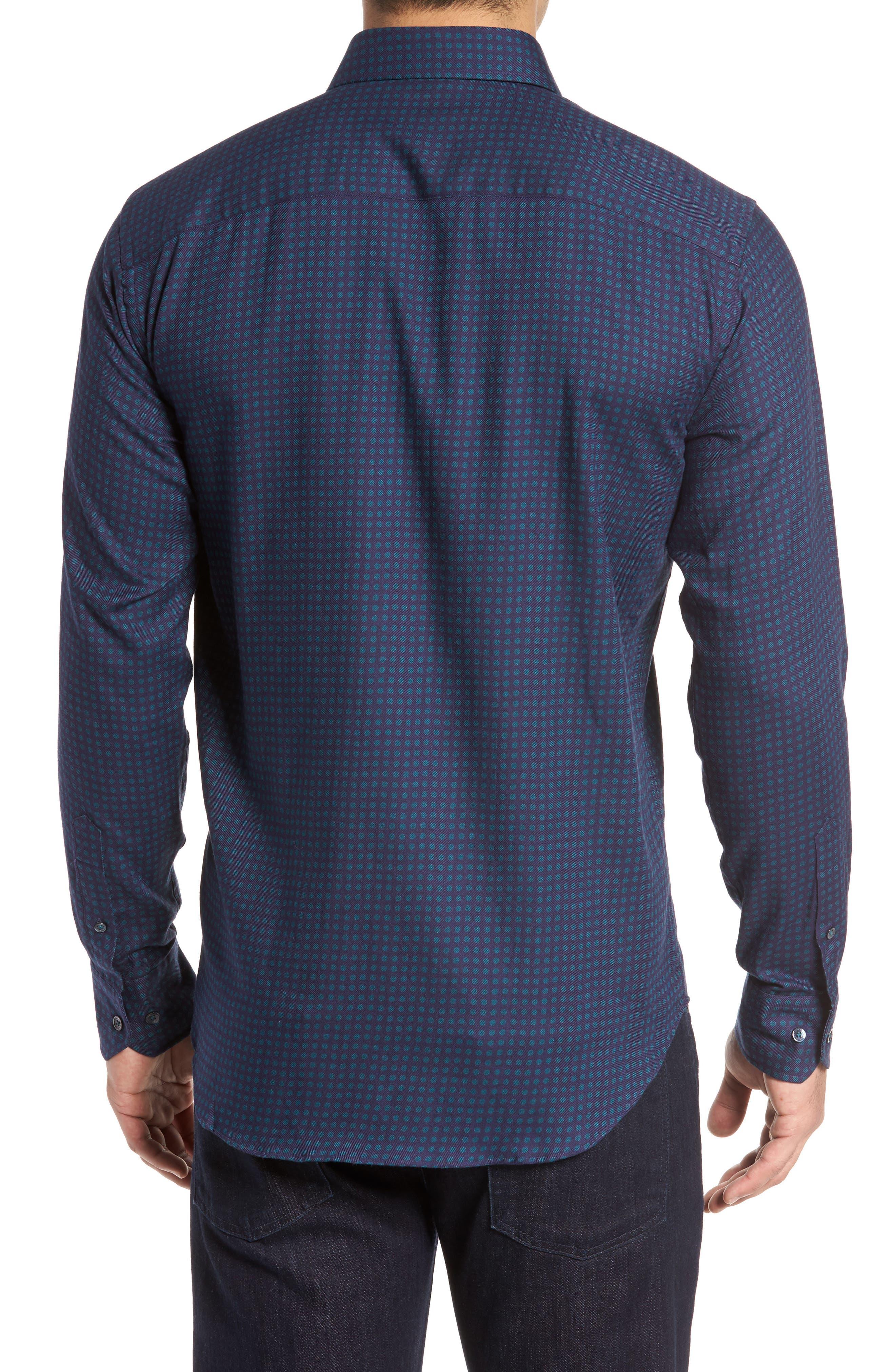 Shaped Fit Print Sport Shirt,                             Alternate thumbnail 2, color,                             503