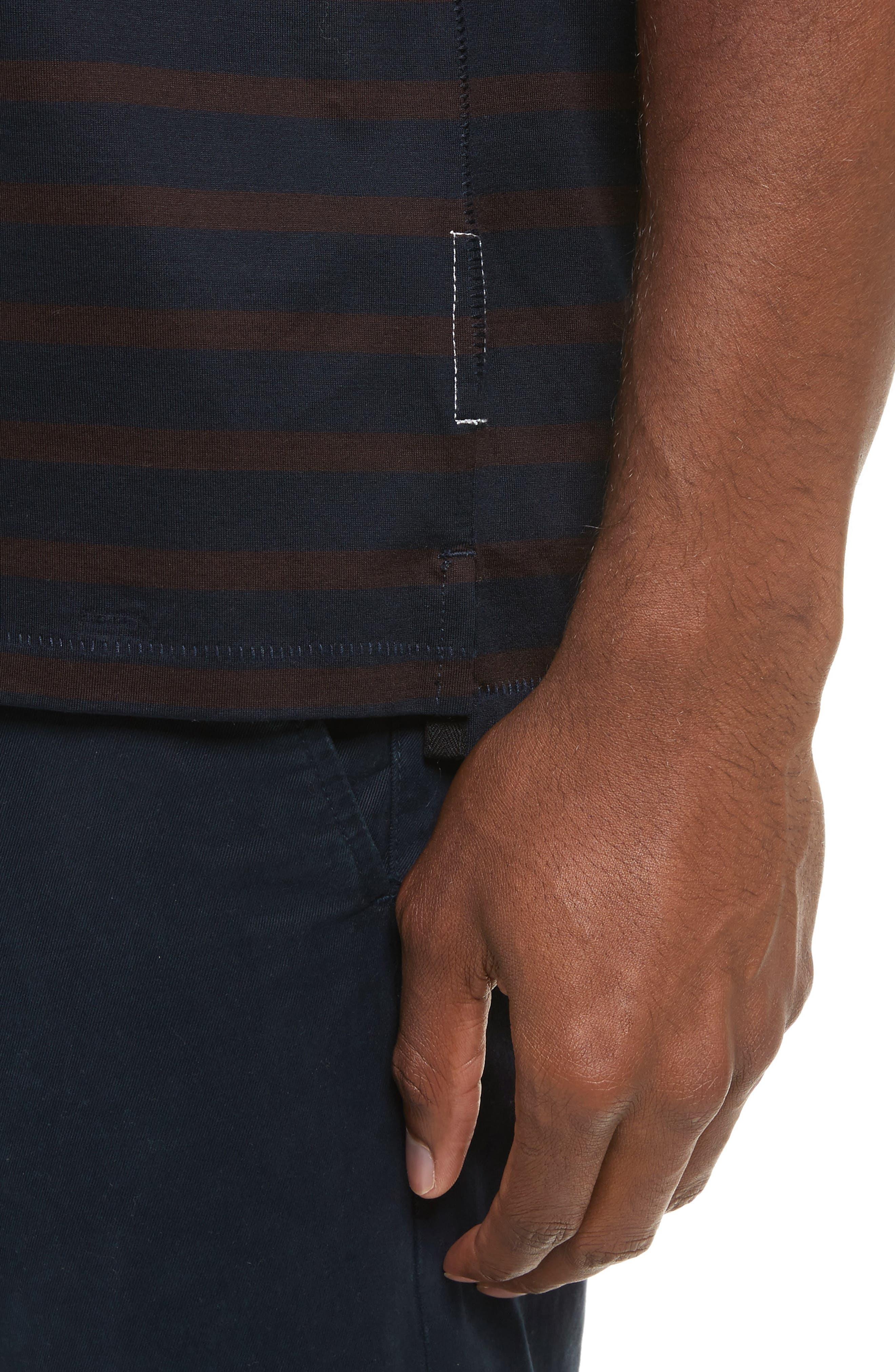 Henry Stripe T-Shirt,                             Alternate thumbnail 4, color,                             420