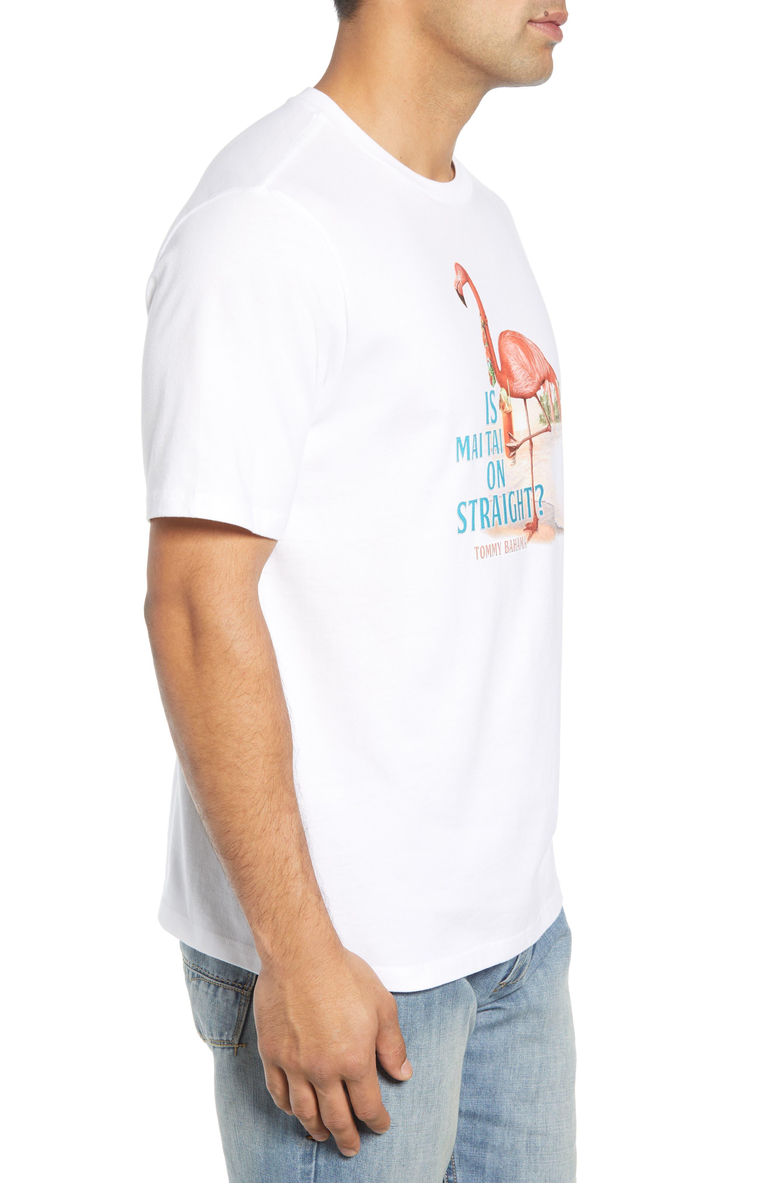Is Mai Tai on Straight? T-Shirt,                             Alternate thumbnail 3, color,                             WHITE