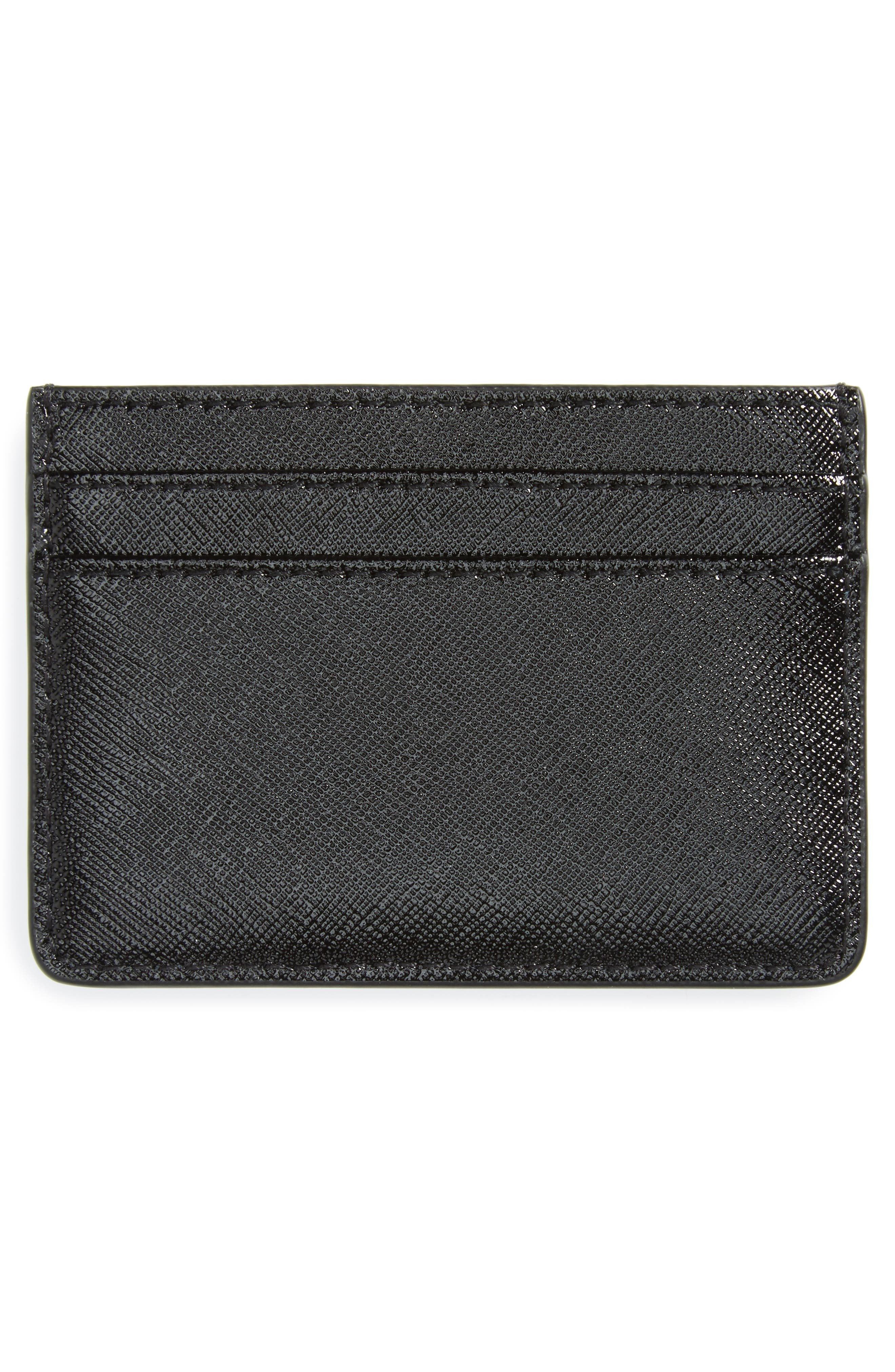 Color Block Saffiano Leather Card Case,                             Alternate thumbnail 6, color,
