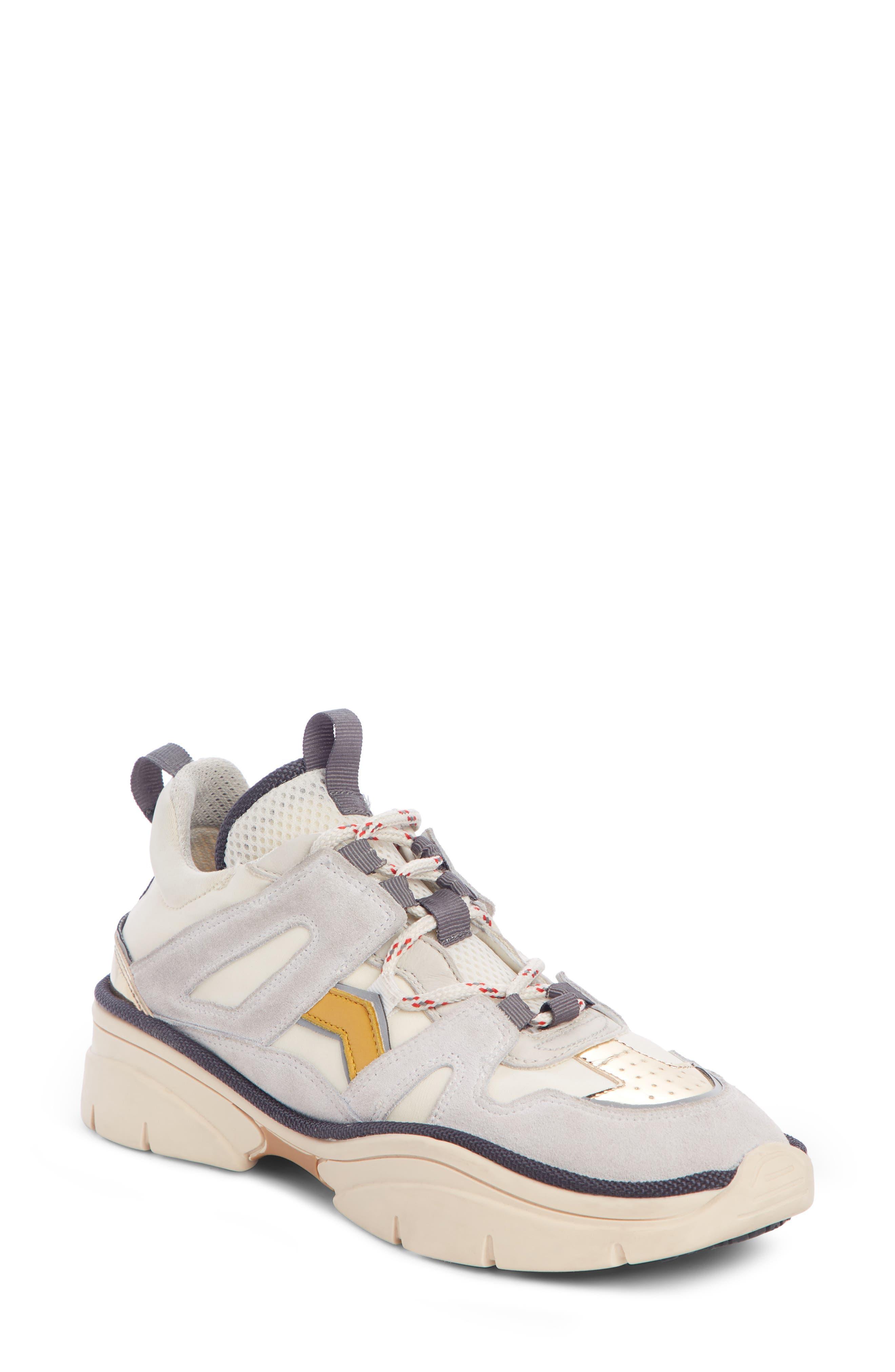 Kindsay Lace-Up Sneaker,                             Main thumbnail 1, color,                             WHITE