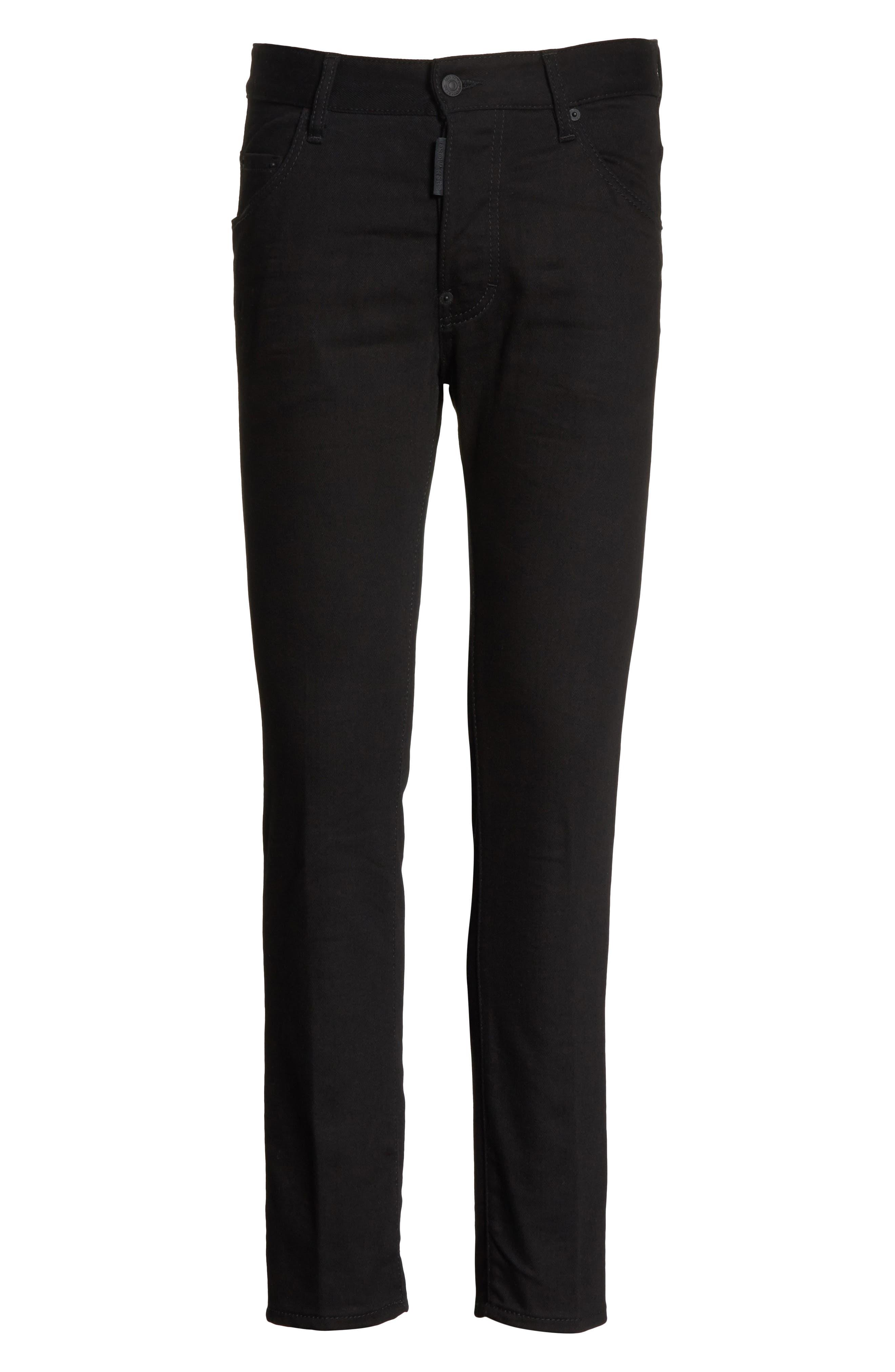 Black Bull Skater Jeans,                             Alternate thumbnail 6, color,                             BLACK