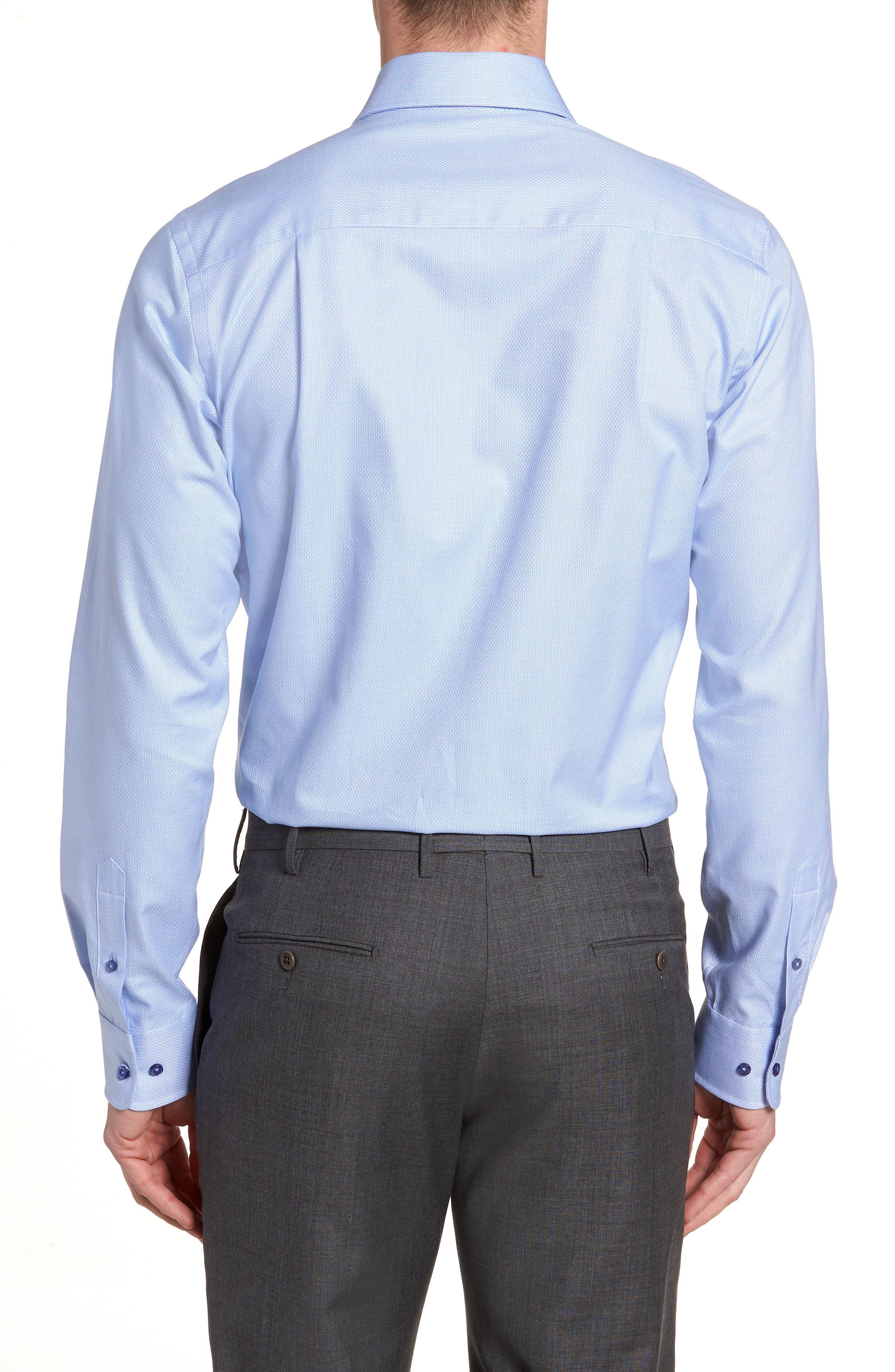 Trim Fit Solid Dress Shirt,                             Alternate thumbnail 3, color,                             423