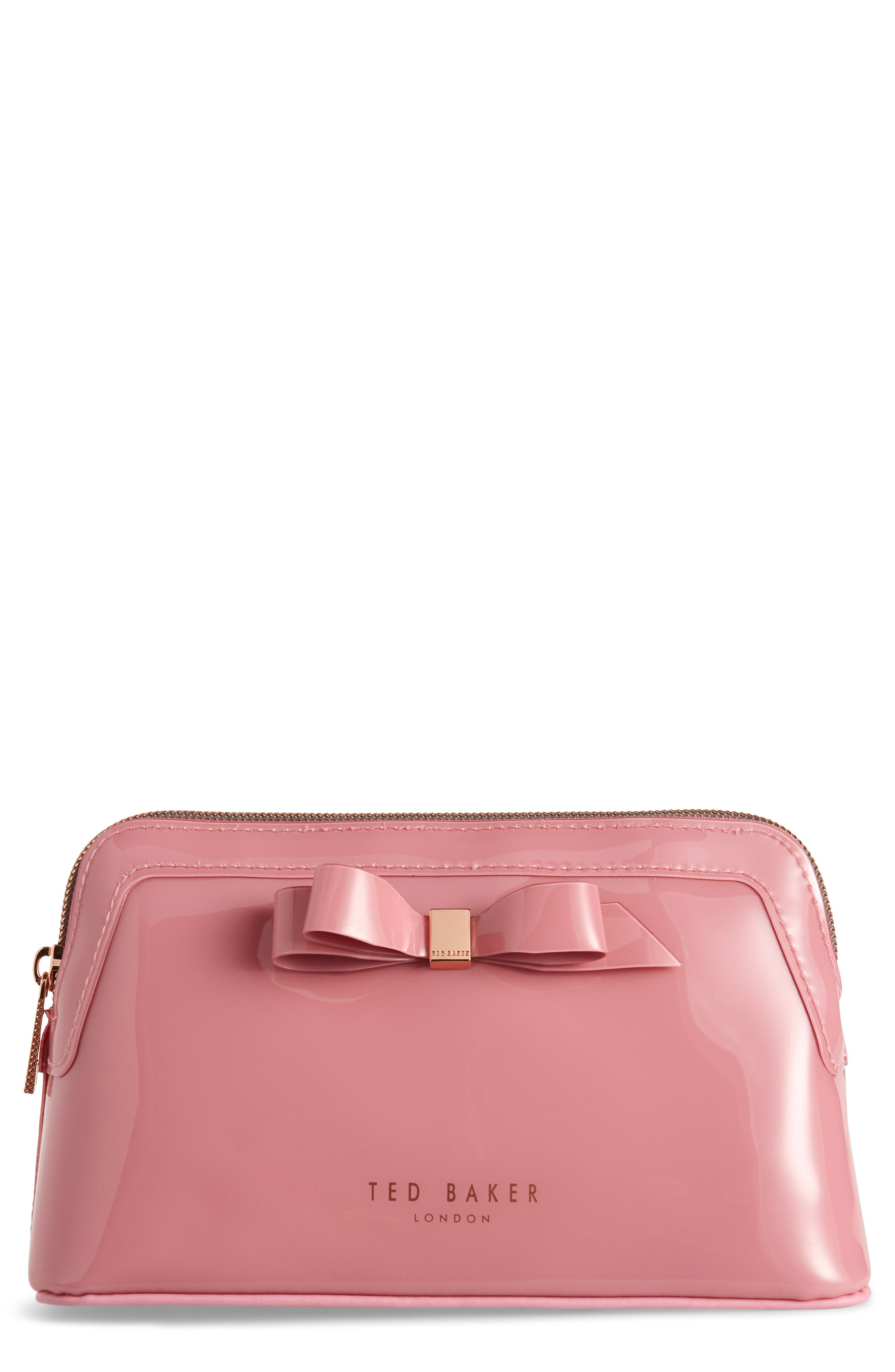 Cahira Bow Cosmetics Case in Pink