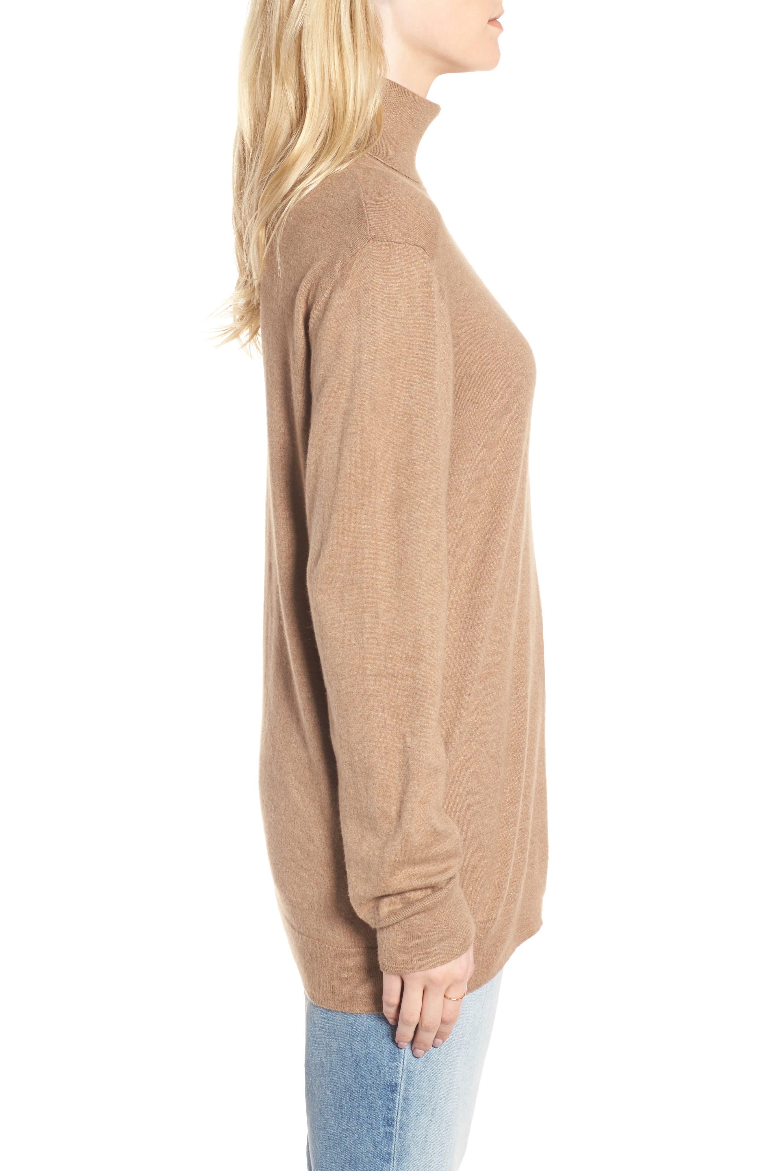Boyfriend Turtleneck Sweater,                             Alternate thumbnail 9, color,