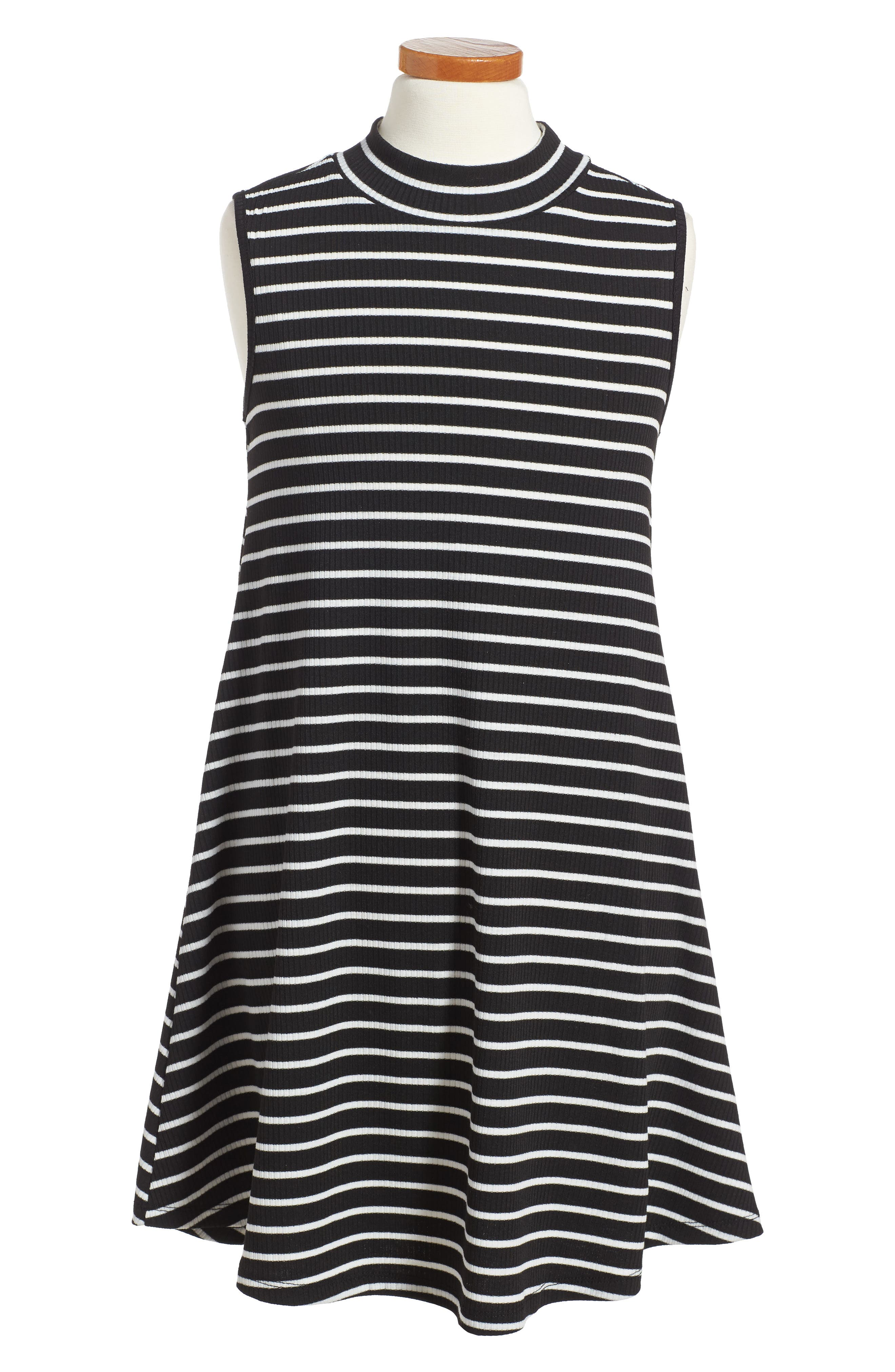 Phyllis Stripe Mock Neck Dress,                             Main thumbnail 2, color,