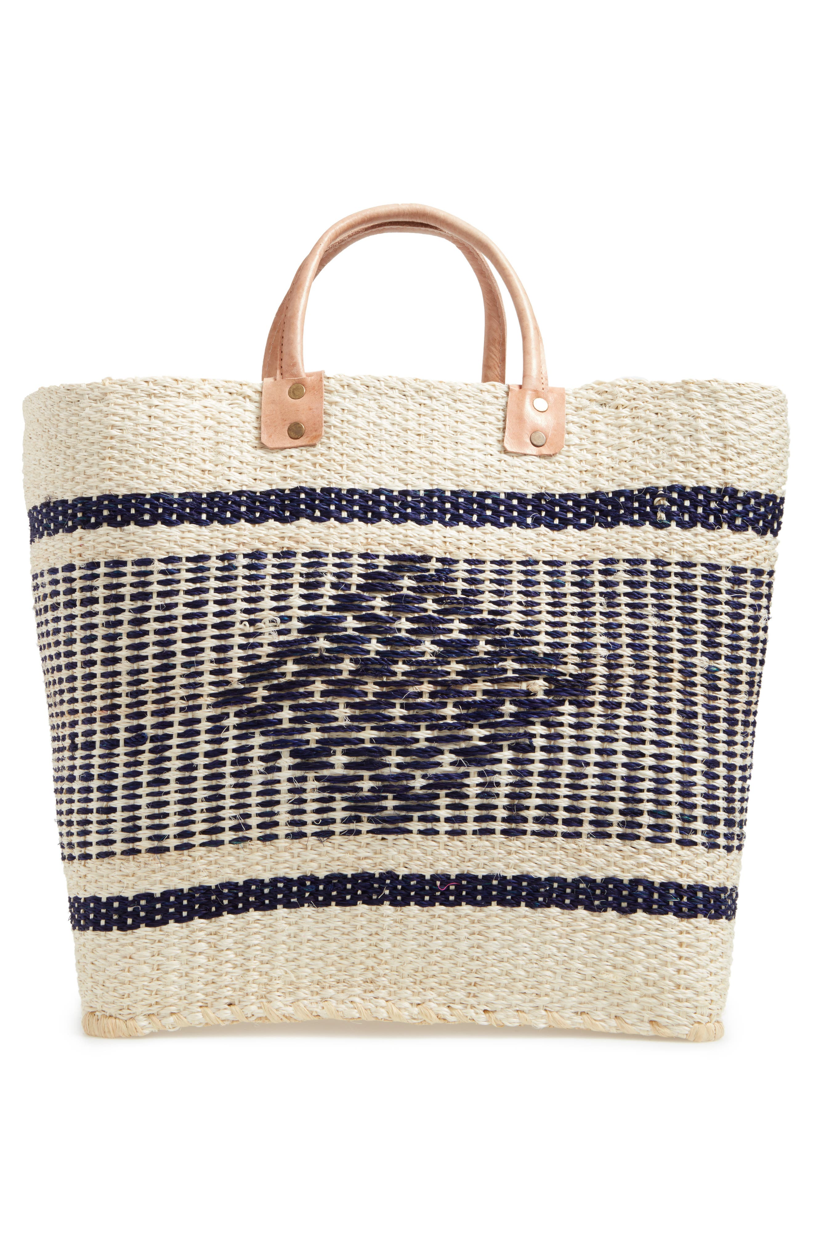 'Ibiza' Woven Tote with Tassel Charms,                             Alternate thumbnail 3, color,                             200