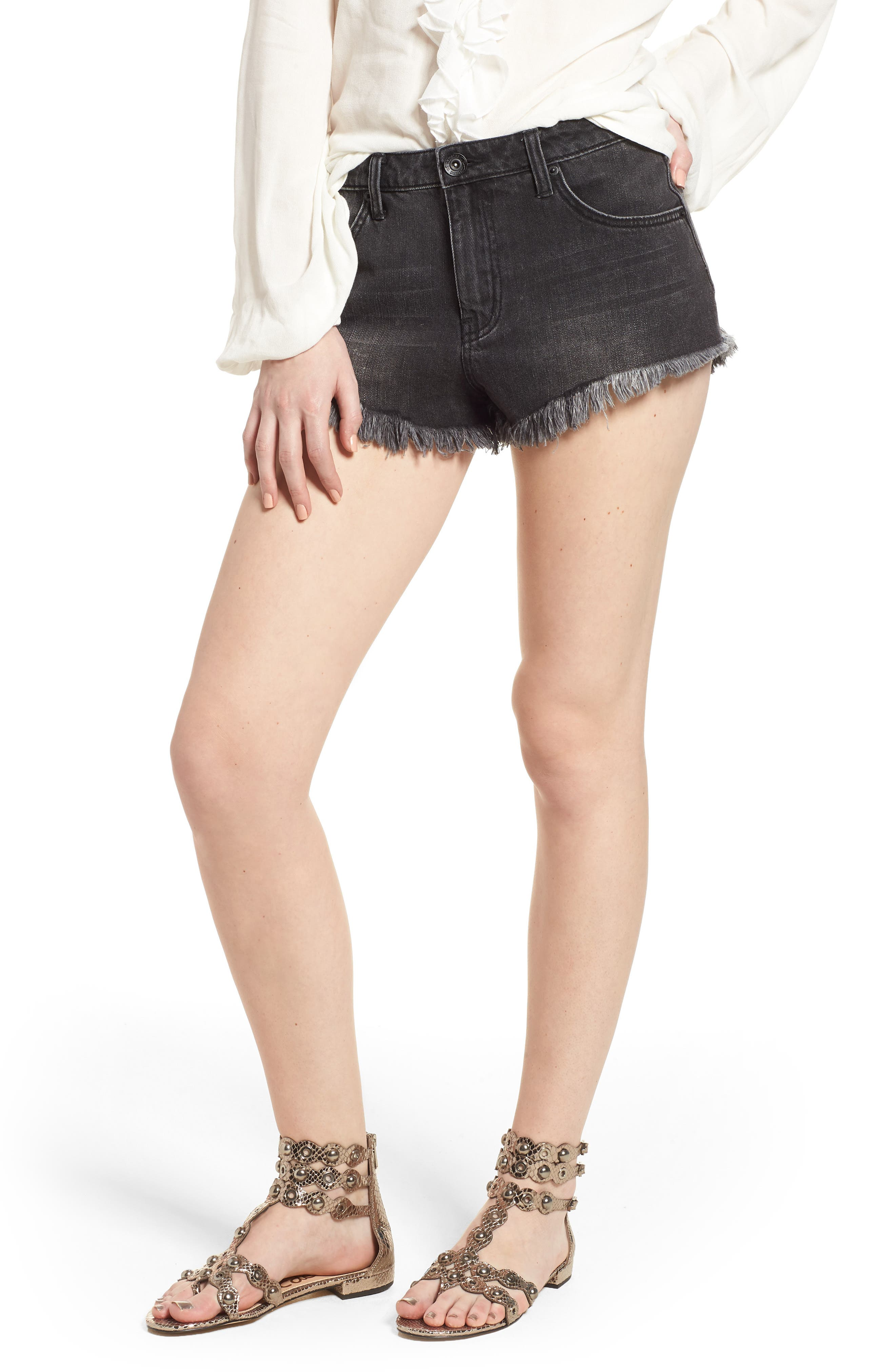 Riley Denim Shorts,                         Main,                         color,