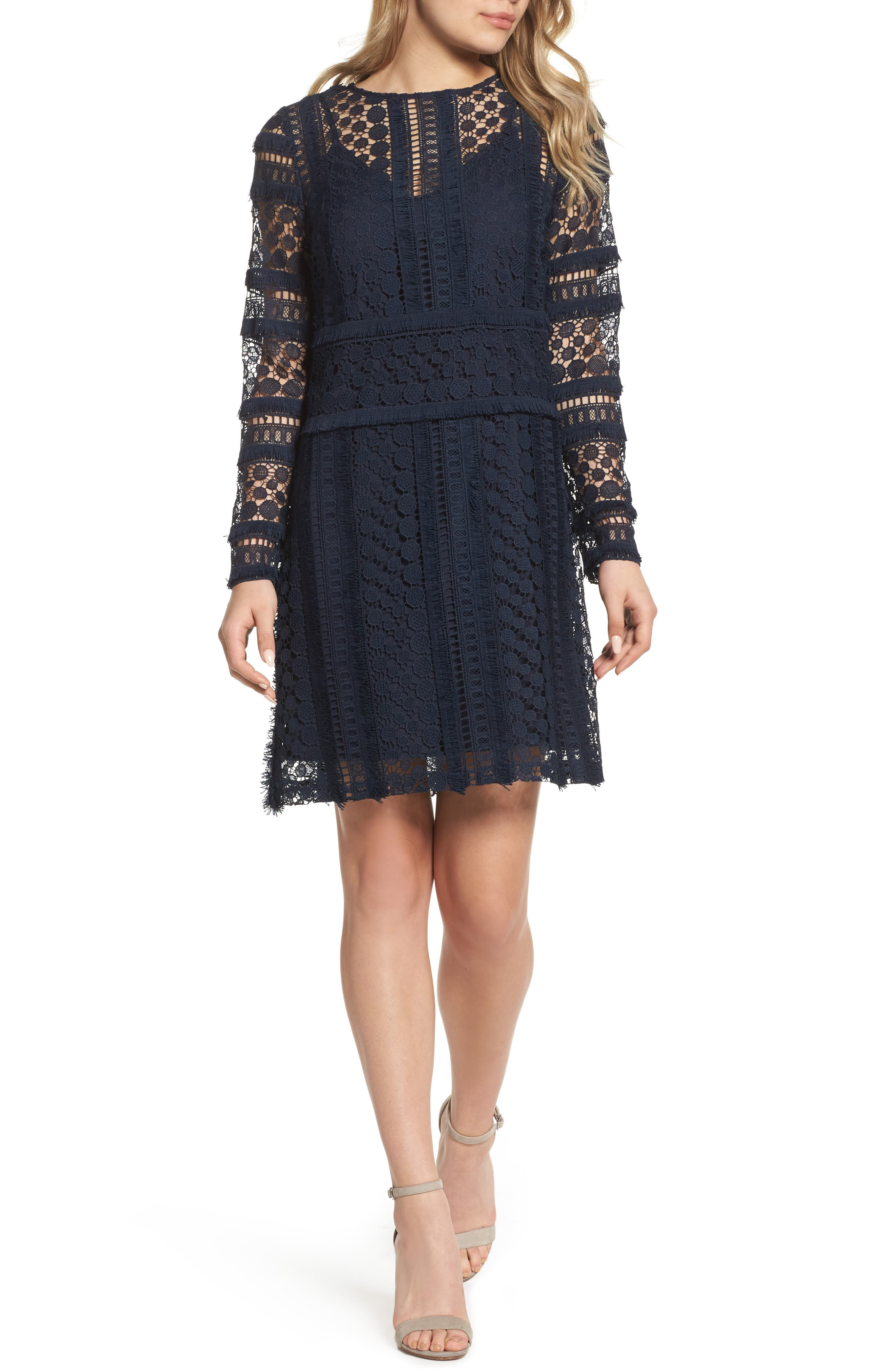 Lace Sheath Dress,                         Main,                         color, 419