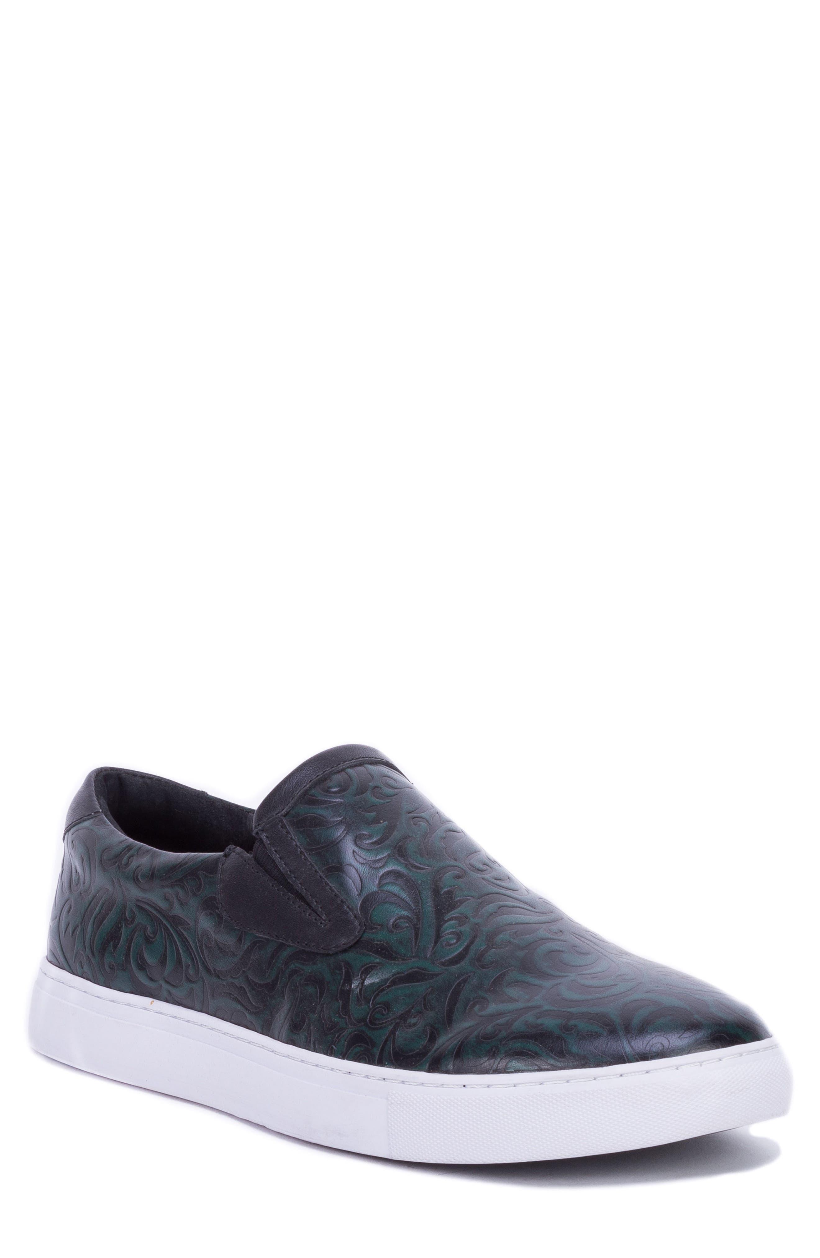 Lanning Slip-On Sneaker,                             Main thumbnail 1, color,                             GREEN LEATHER