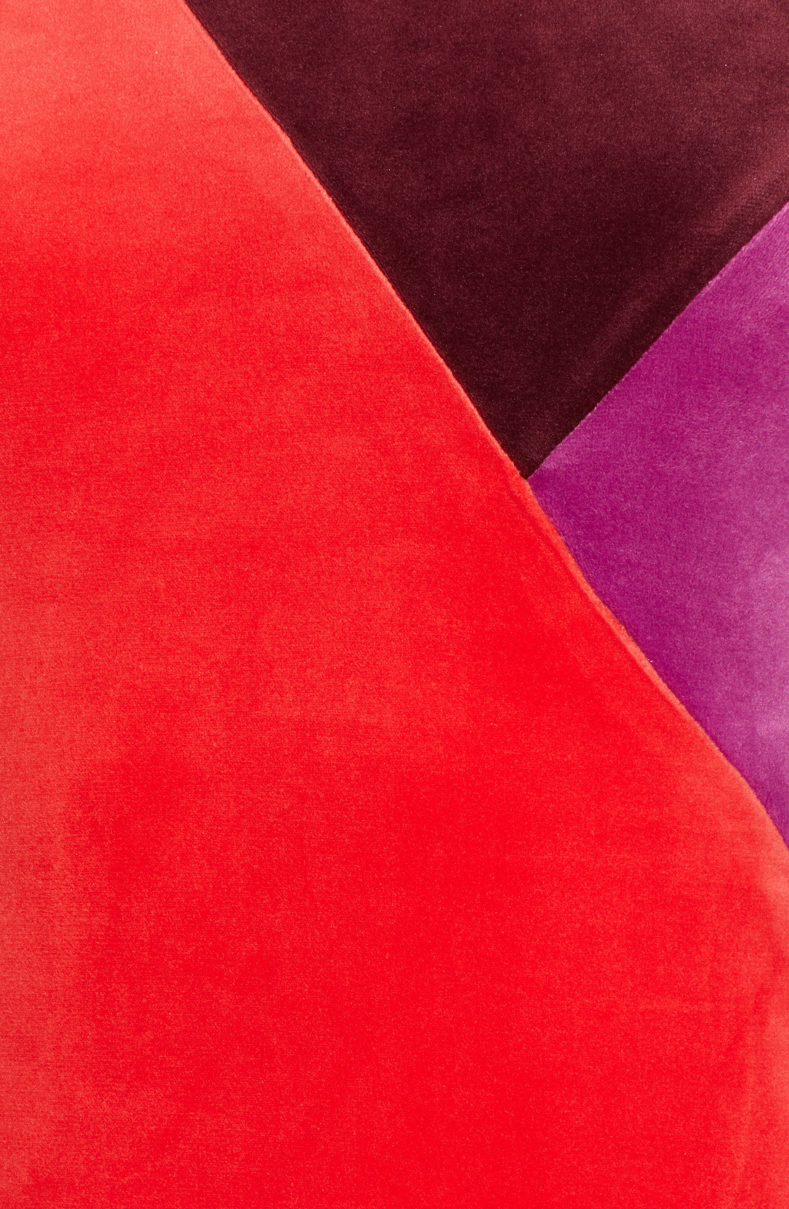 Velluto Velour Midi Dress,                             Alternate thumbnail 6, color,                             BORGOGNA