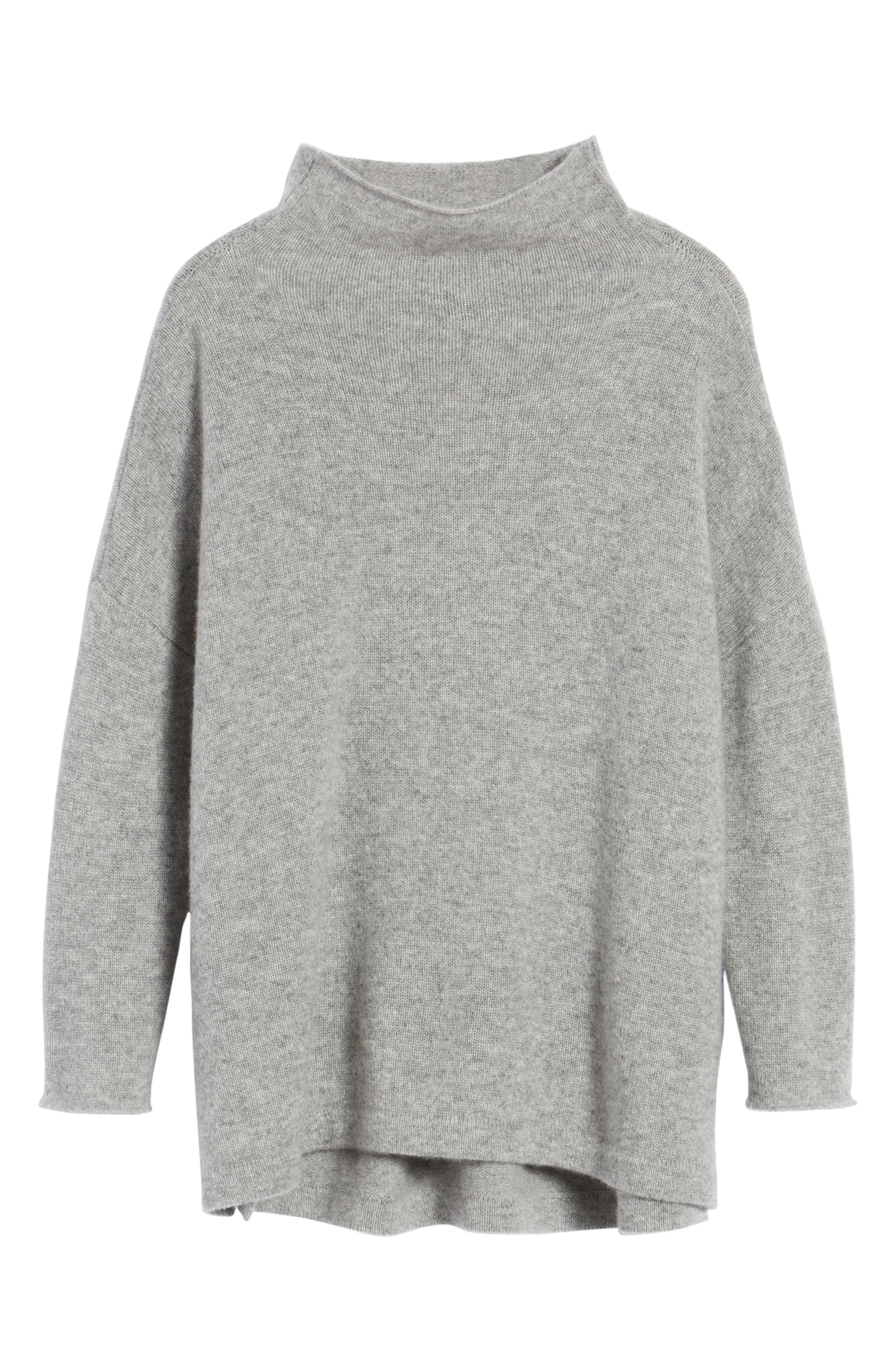 Mock Neck Cashmere Sweater,                             Alternate thumbnail 6, color,                             086