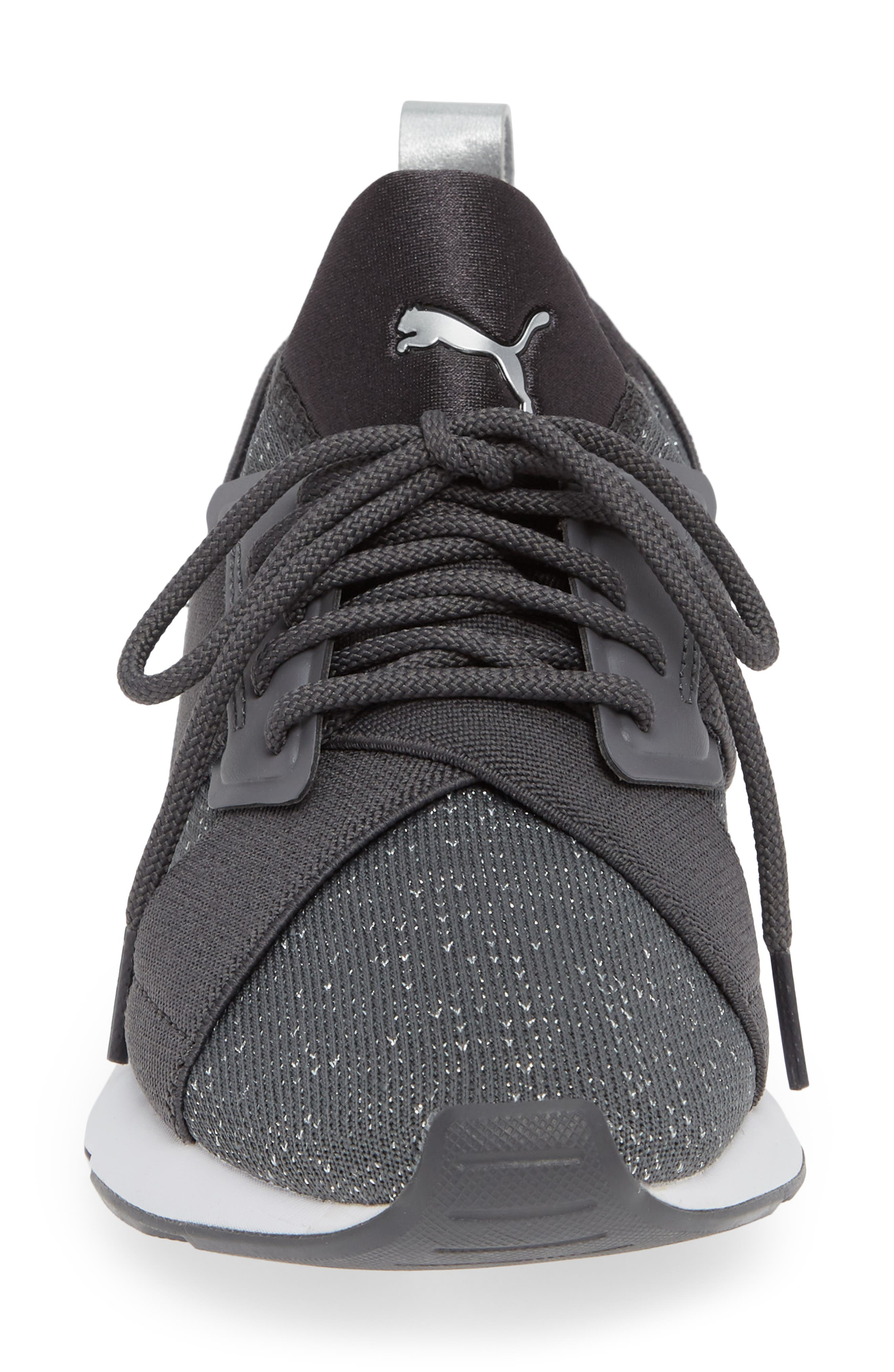 Muse Knit Sneaker,                             Alternate thumbnail 4, color,                             IRON GATE