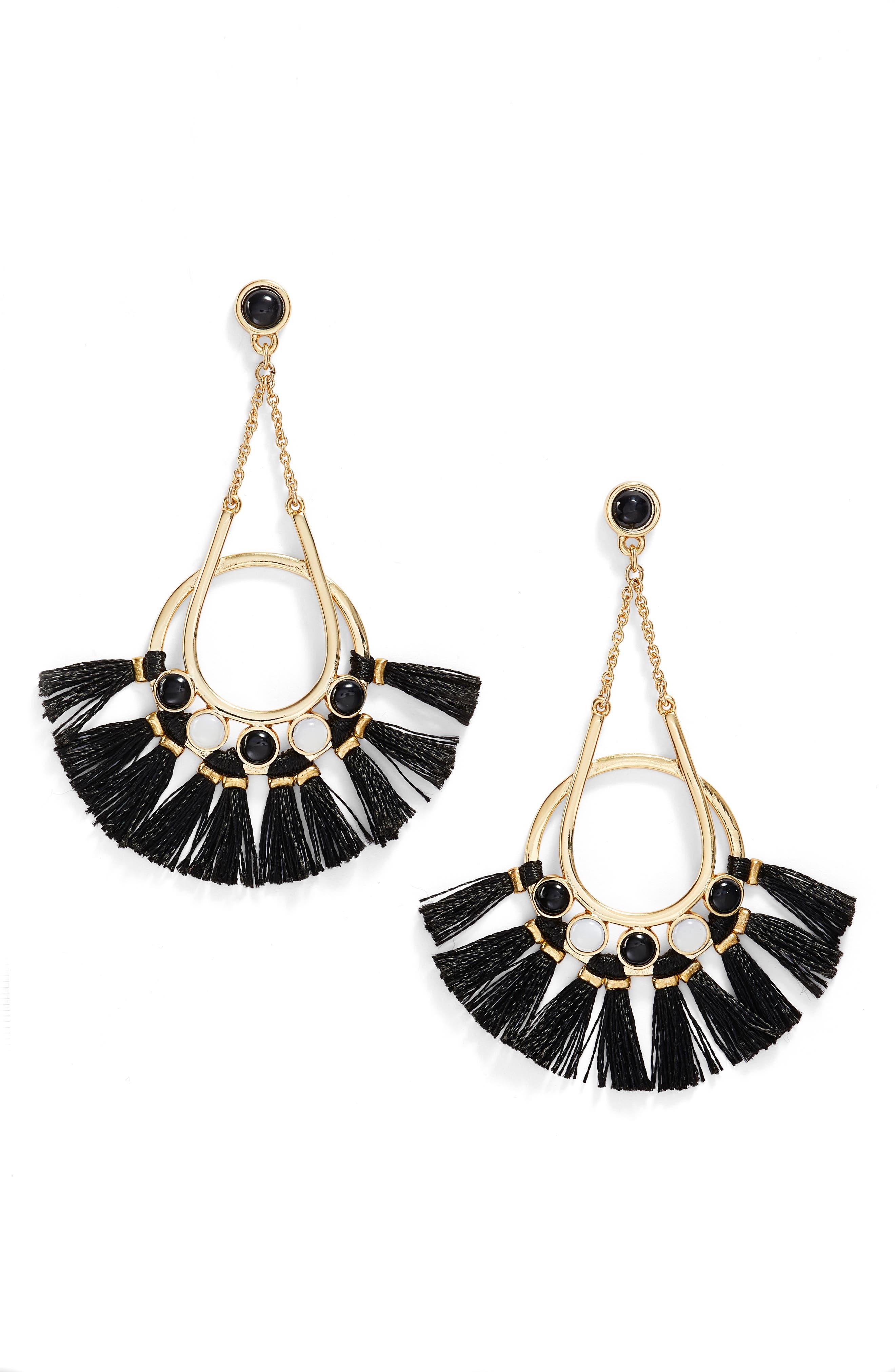 Utopia Tassel Chandelier Earrings,                         Main,                         color, 001